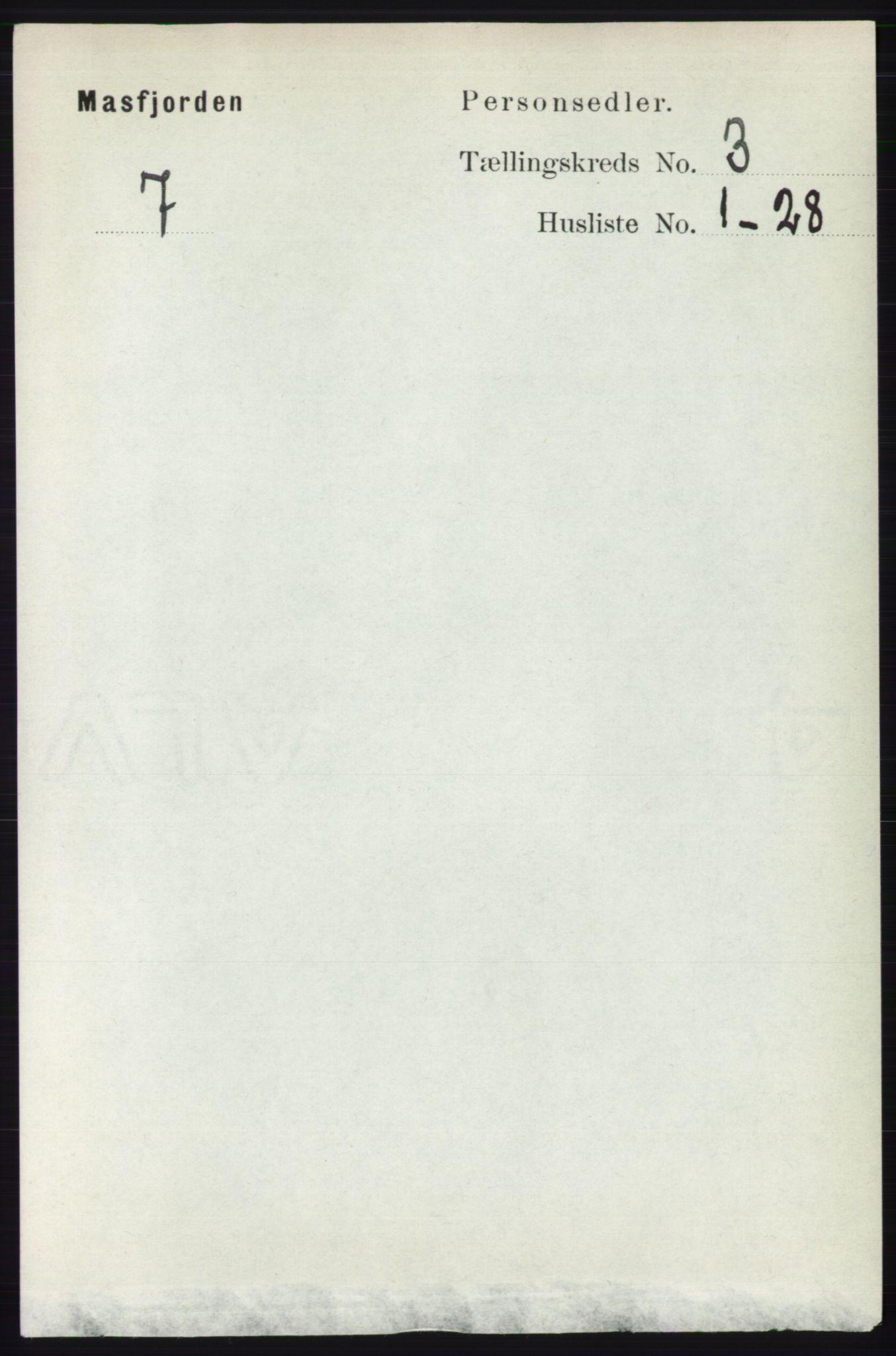 RA, Folketelling 1891 for 1266 Masfjorden herred, 1891, s. 524
