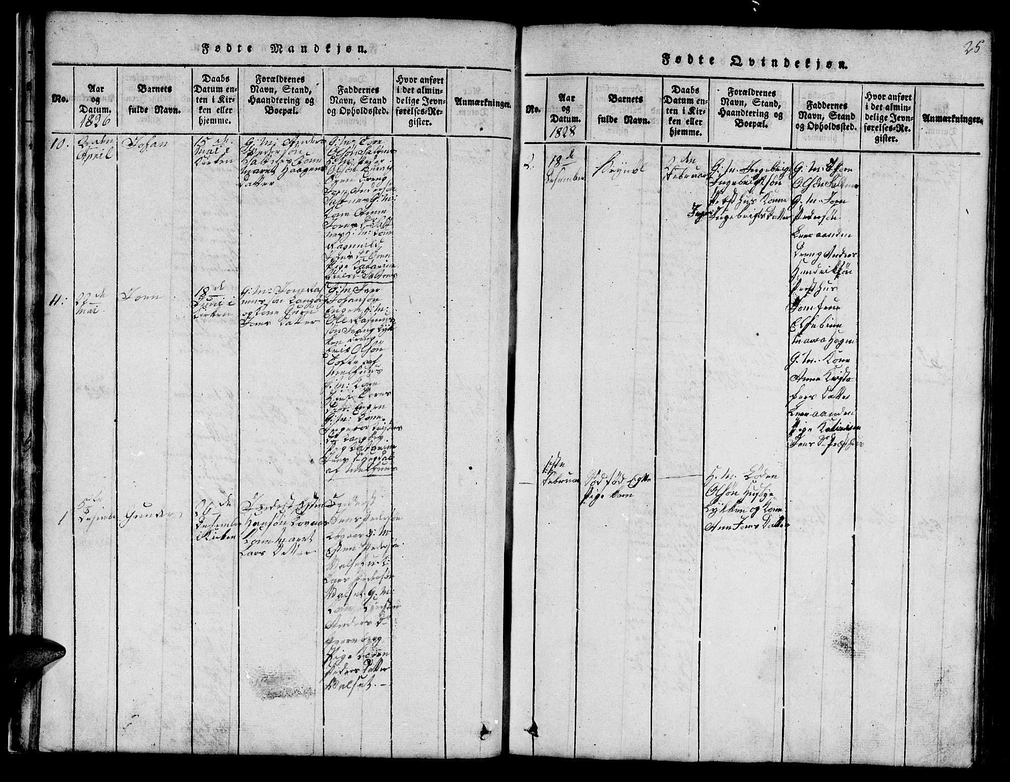 SAT, Ministerialprotokoller, klokkerbøker og fødselsregistre - Sør-Trøndelag, 666/L0788: Klokkerbok nr. 666C01, 1816-1847, s. 25