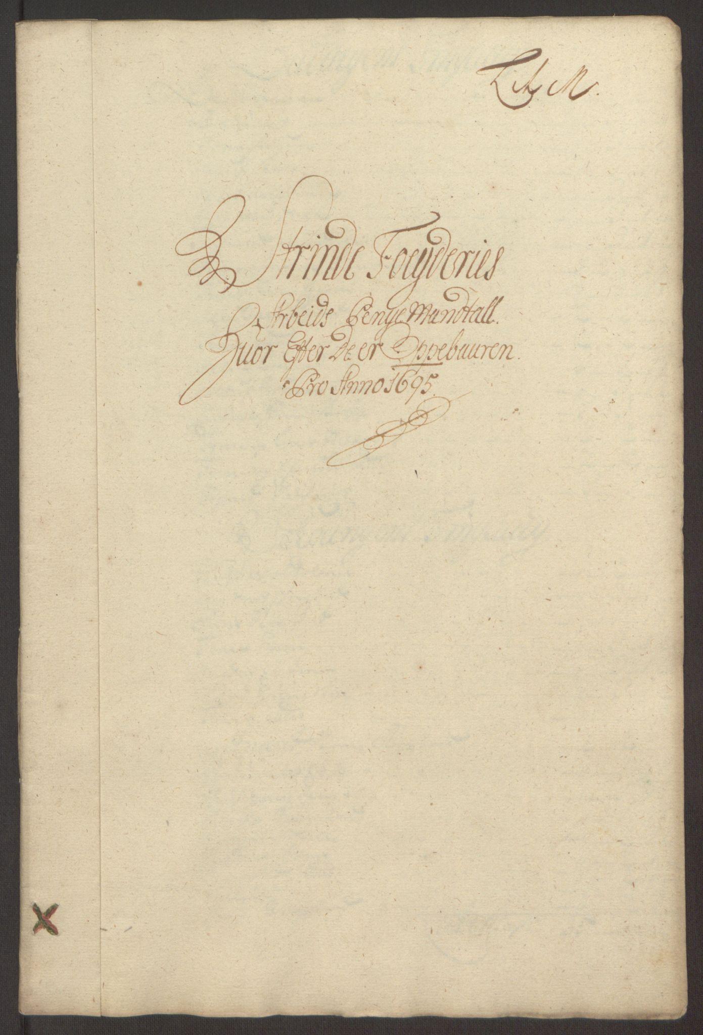 RA, Rentekammeret inntil 1814, Reviderte regnskaper, Fogderegnskap, R61/L4105: Fogderegnskap Strinda og Selbu, 1695, s. 95