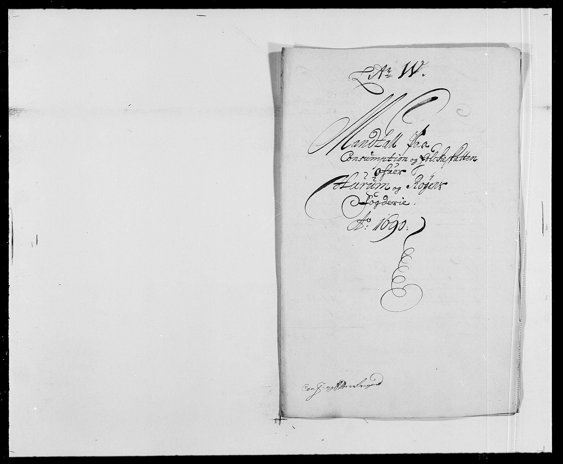 RA, Rentekammeret inntil 1814, Reviderte regnskaper, Fogderegnskap, R29/L1693: Fogderegnskap Hurum og Røyken, 1688-1693, s. 173