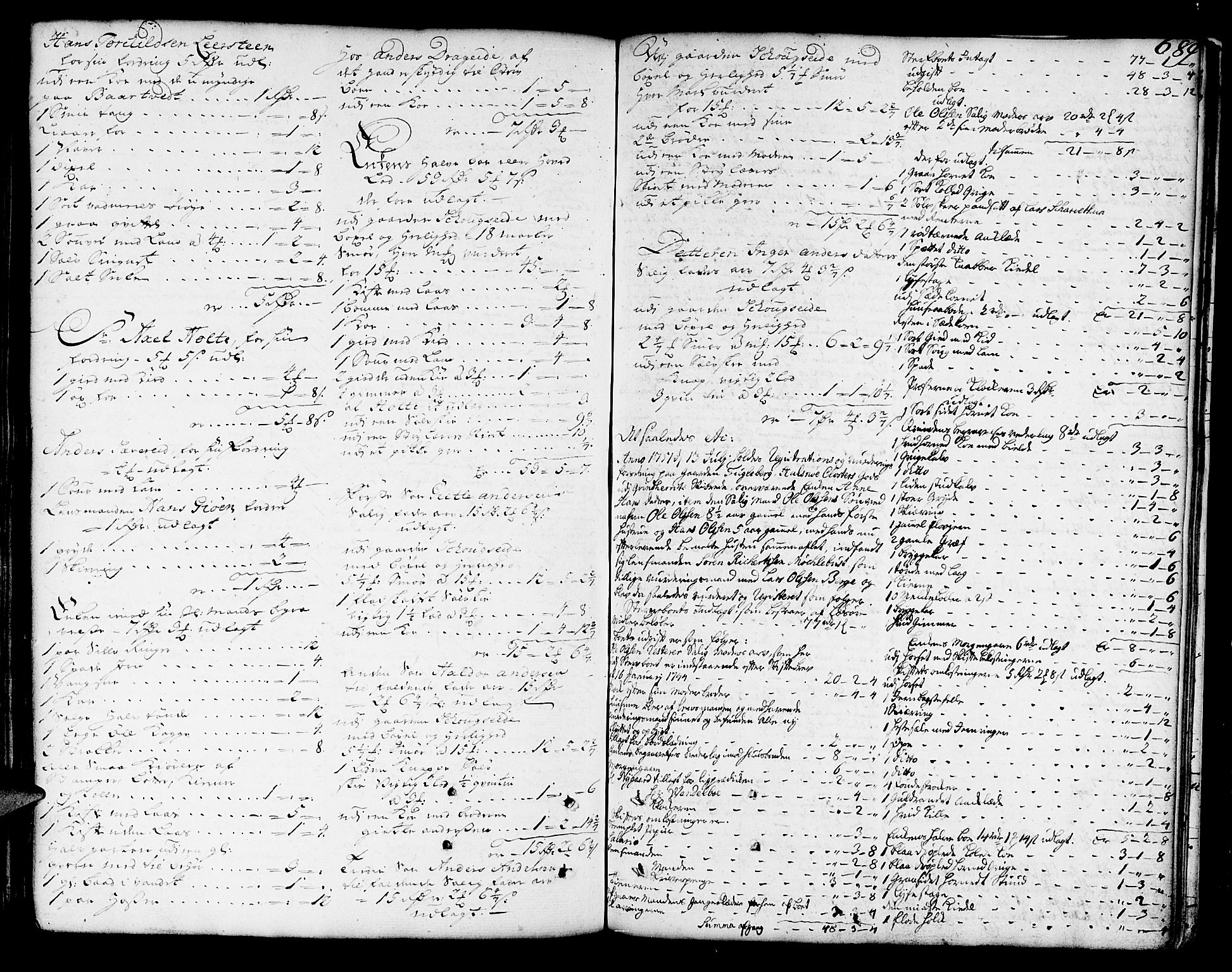 SAB, Sunnhordland sorenskrivararkiv, H/Haa/L0006: Skifteprotokollar. Register på lesesal. Fol. 1061- ut, 1749-1751, s. 688b-689a