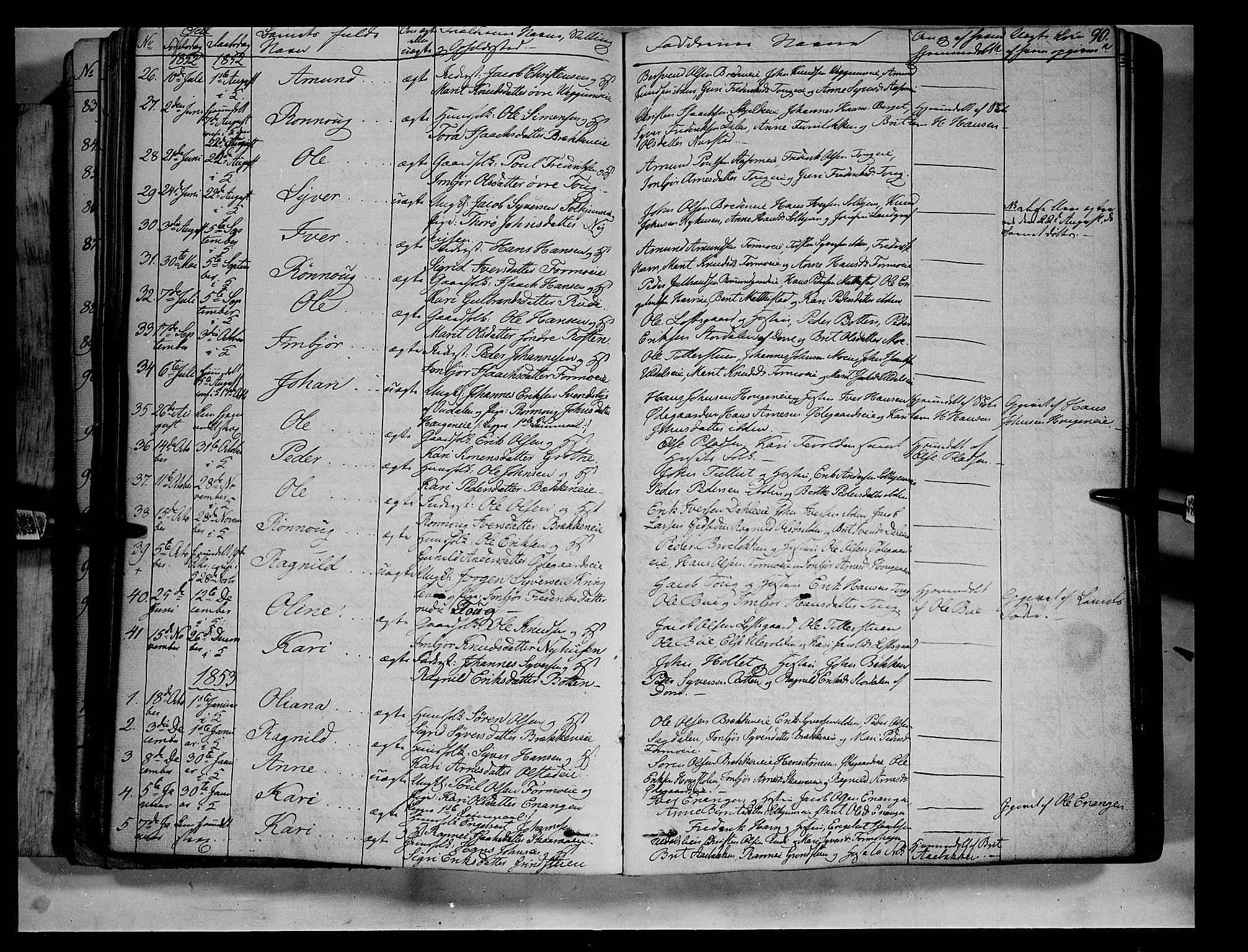 SAH, Vågå prestekontor, Ministerialbok nr. 5 /3, 1842-1856, s. 90