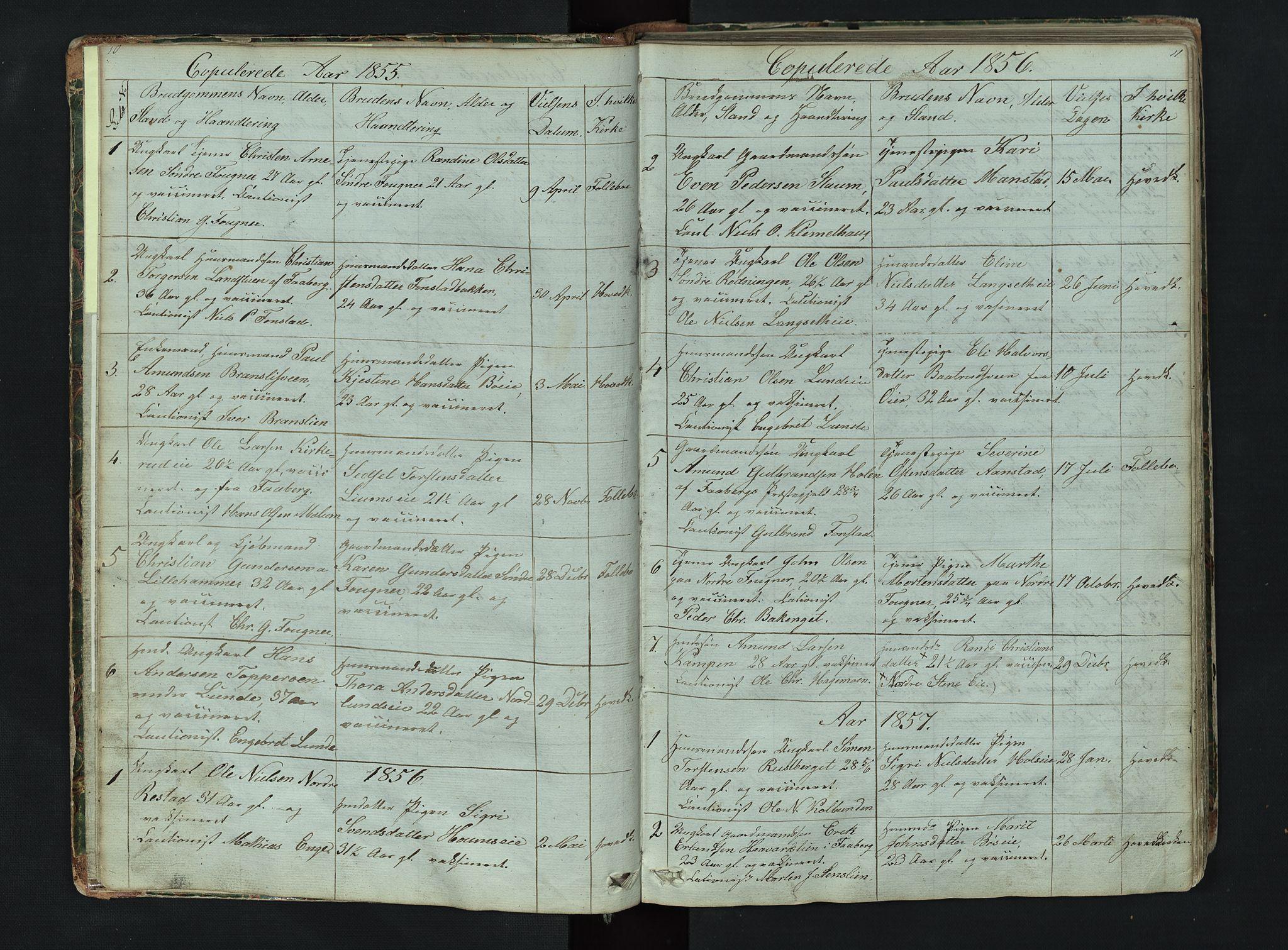SAH, Gausdal prestekontor, Klokkerbok nr. 6, 1846-1893, s. 10-11
