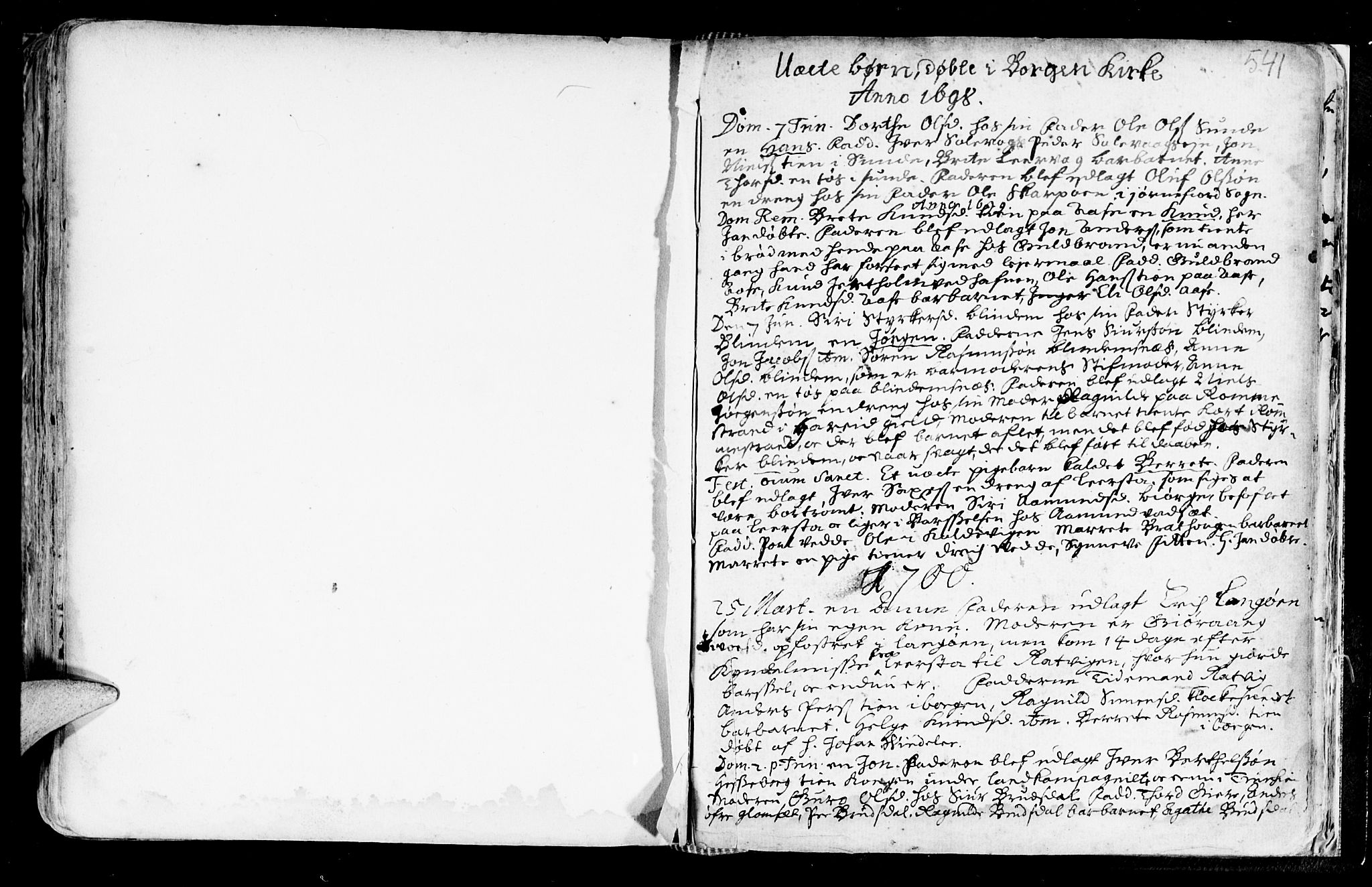 SAT, Ministerialprotokoller, klokkerbøker og fødselsregistre - Møre og Romsdal, 528/L0390: Ministerialbok nr. 528A01, 1698-1739, s. 540-541