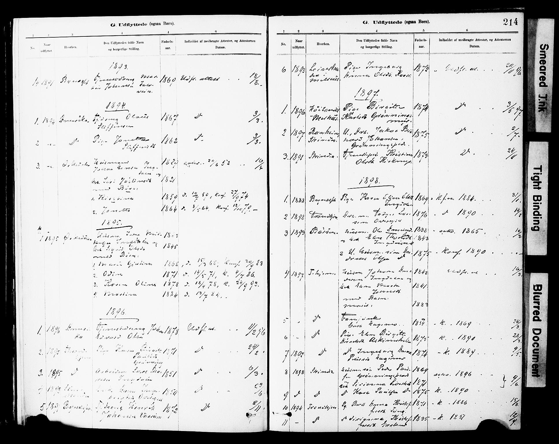 SAT, Ministerialprotokoller, klokkerbøker og fødselsregistre - Sør-Trøndelag, 646/L0615: Ministerialbok nr. 646A13, 1885-1900, s. 214