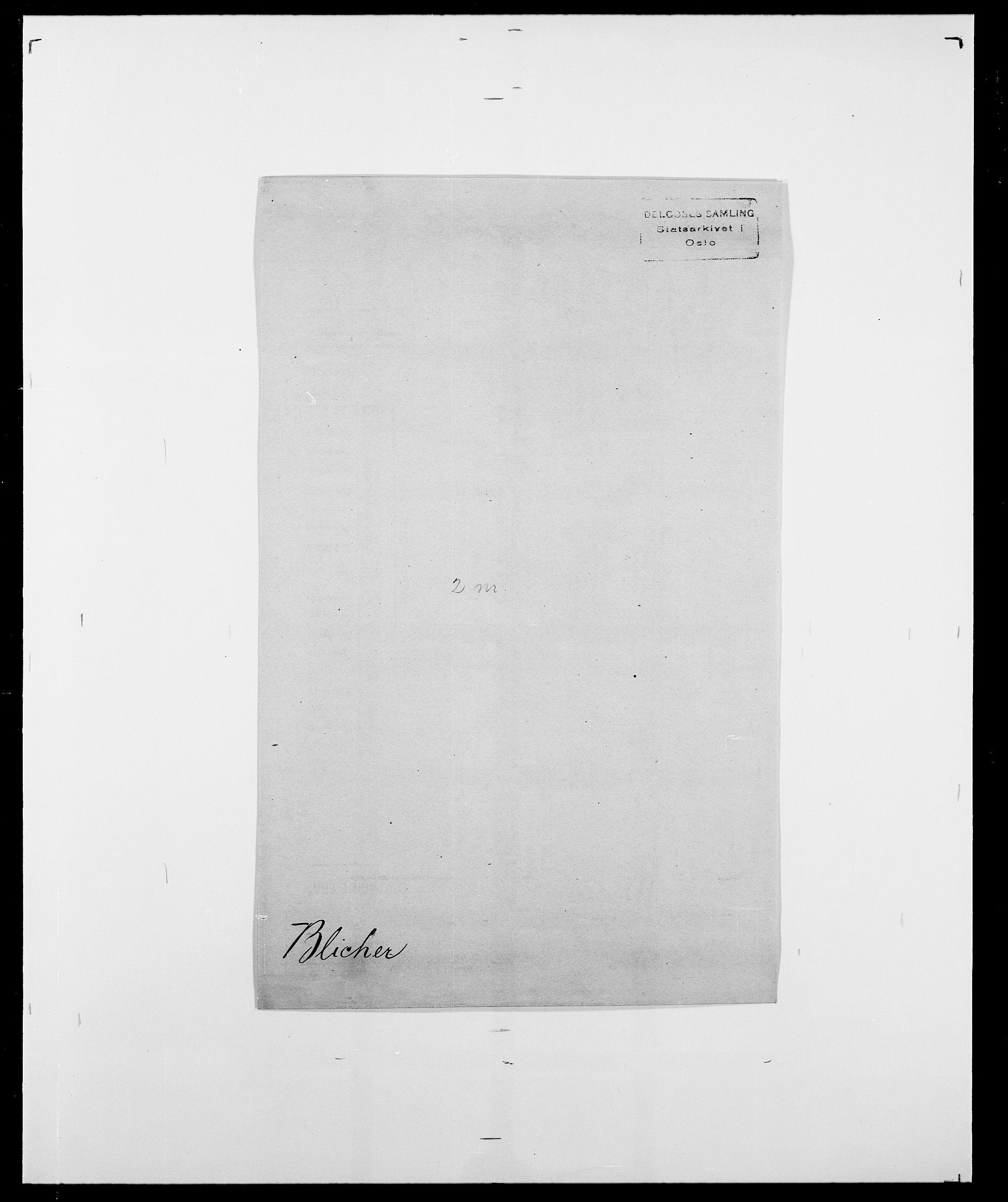 SAO, Delgobe, Charles Antoine - samling, D/Da/L0004: Bergendahl - Blære, s. 583