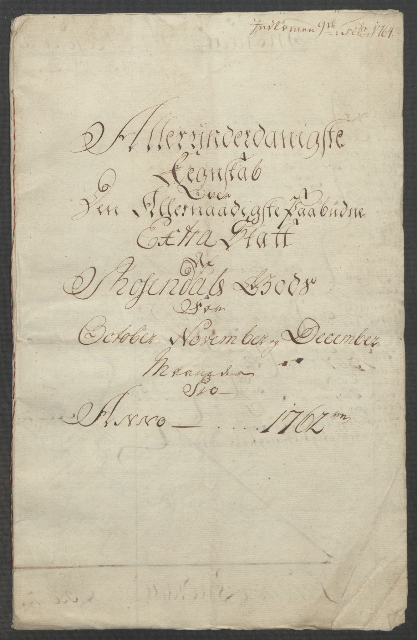 RA, Rentekammeret inntil 1814, Reviderte regnskaper, Fogderegnskap, R49/L3157: Ekstraskatten Rosendal Baroni, 1762-1772, s. 4