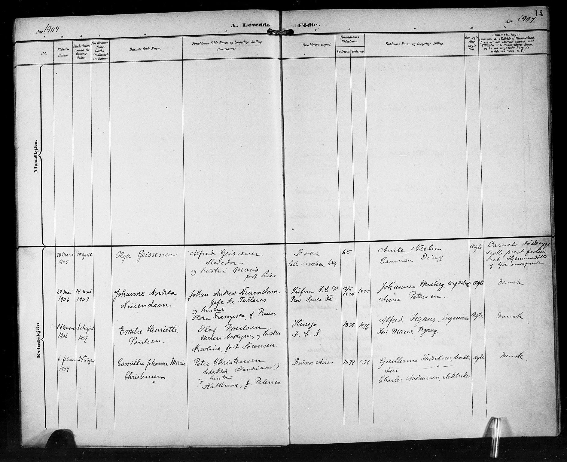 SAB, Den Norske Sjømannsmisjon i utlandet*, Ministerialbok nr. A 2, 1899-1919, s. 14
