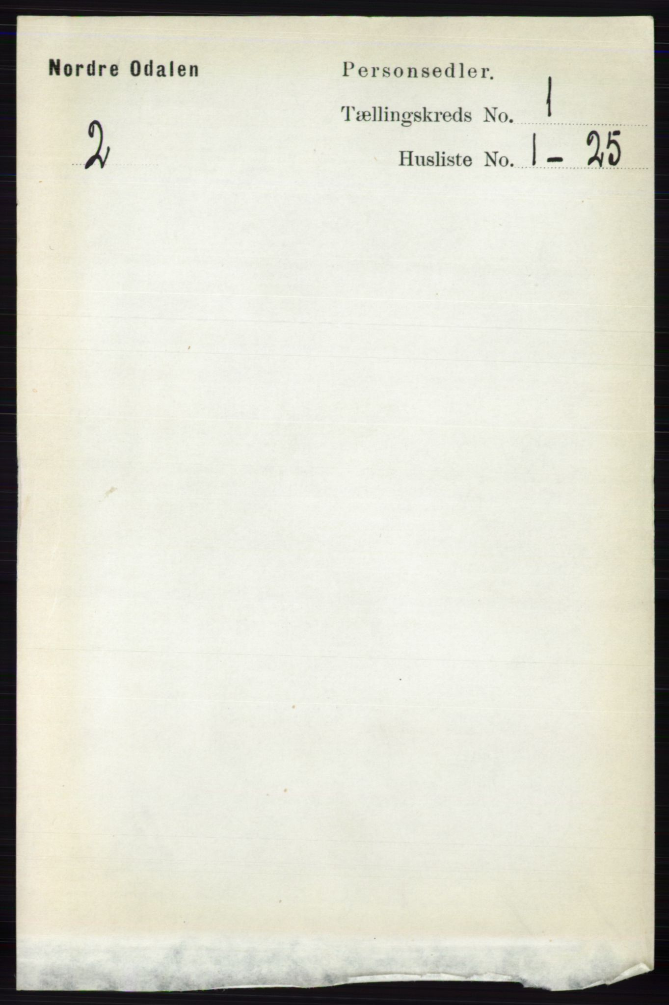 RA, Folketelling 1891 for 0418 Nord-Odal herred, 1891, s. 85