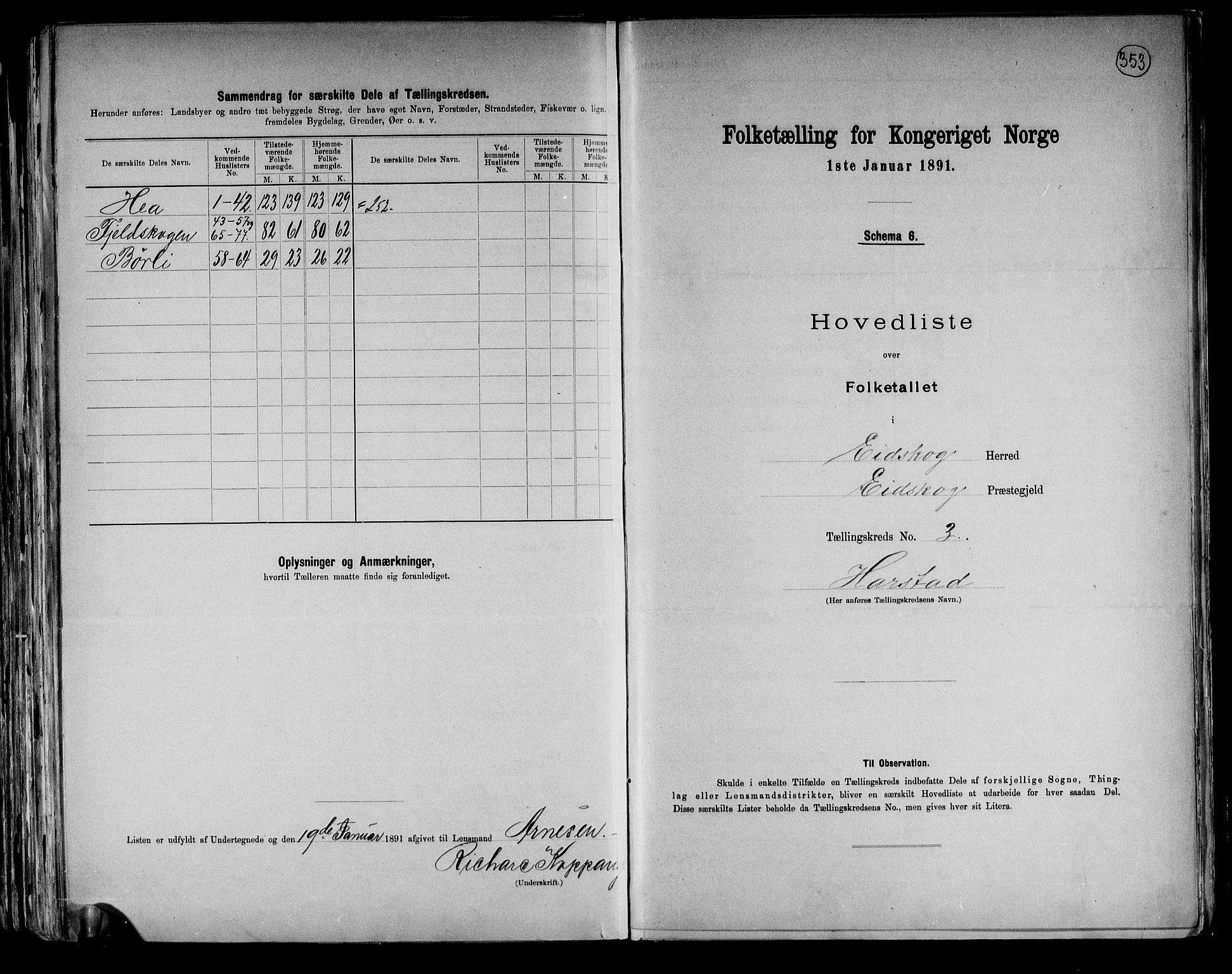 RA, Folketelling 1891 for 0420 Eidskog herred, 1891, s. 9