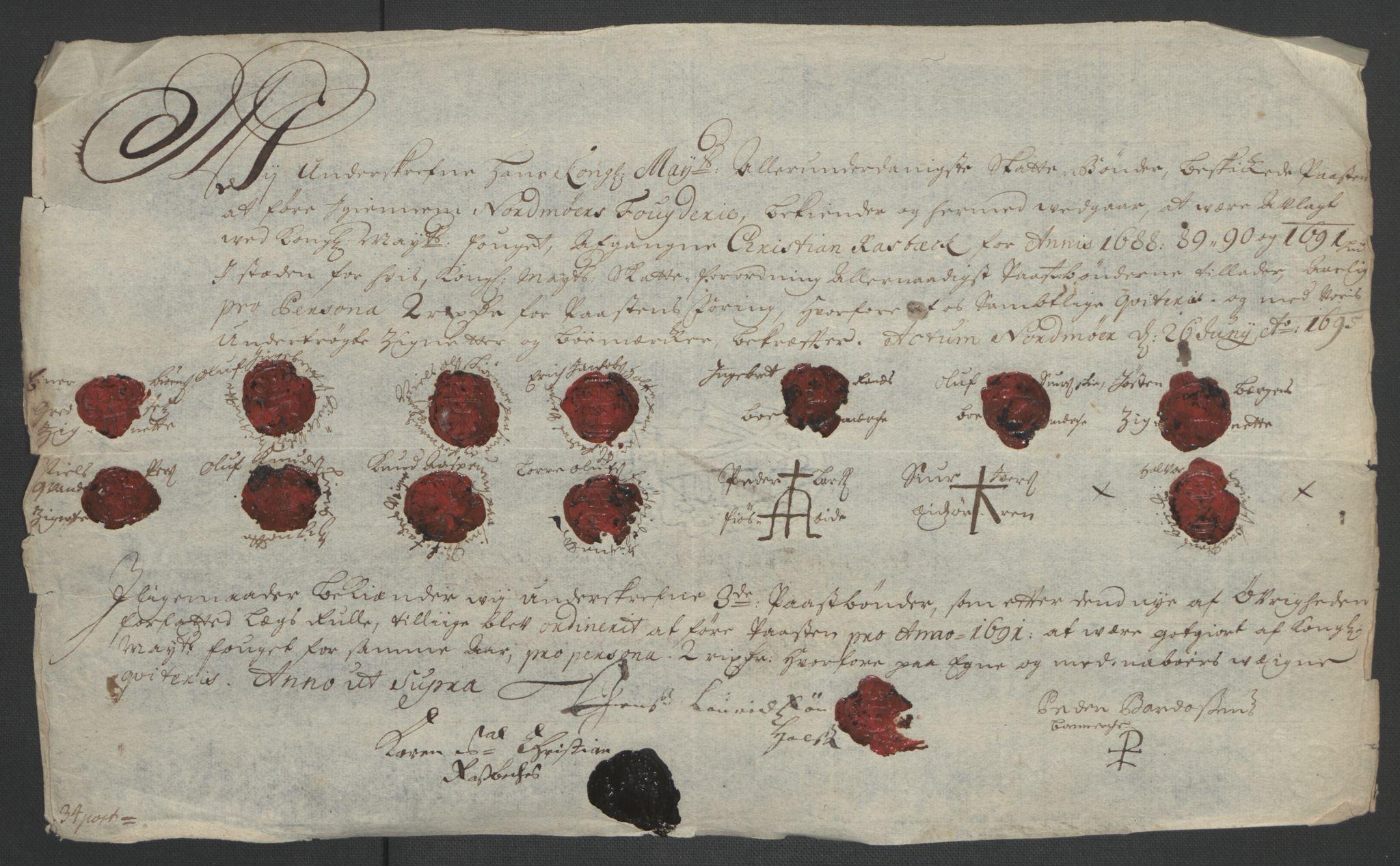 RA, Rentekammeret inntil 1814, Reviderte regnskaper, Fogderegnskap, R56/L3734: Fogderegnskap Nordmøre, 1690-1691, s. 479