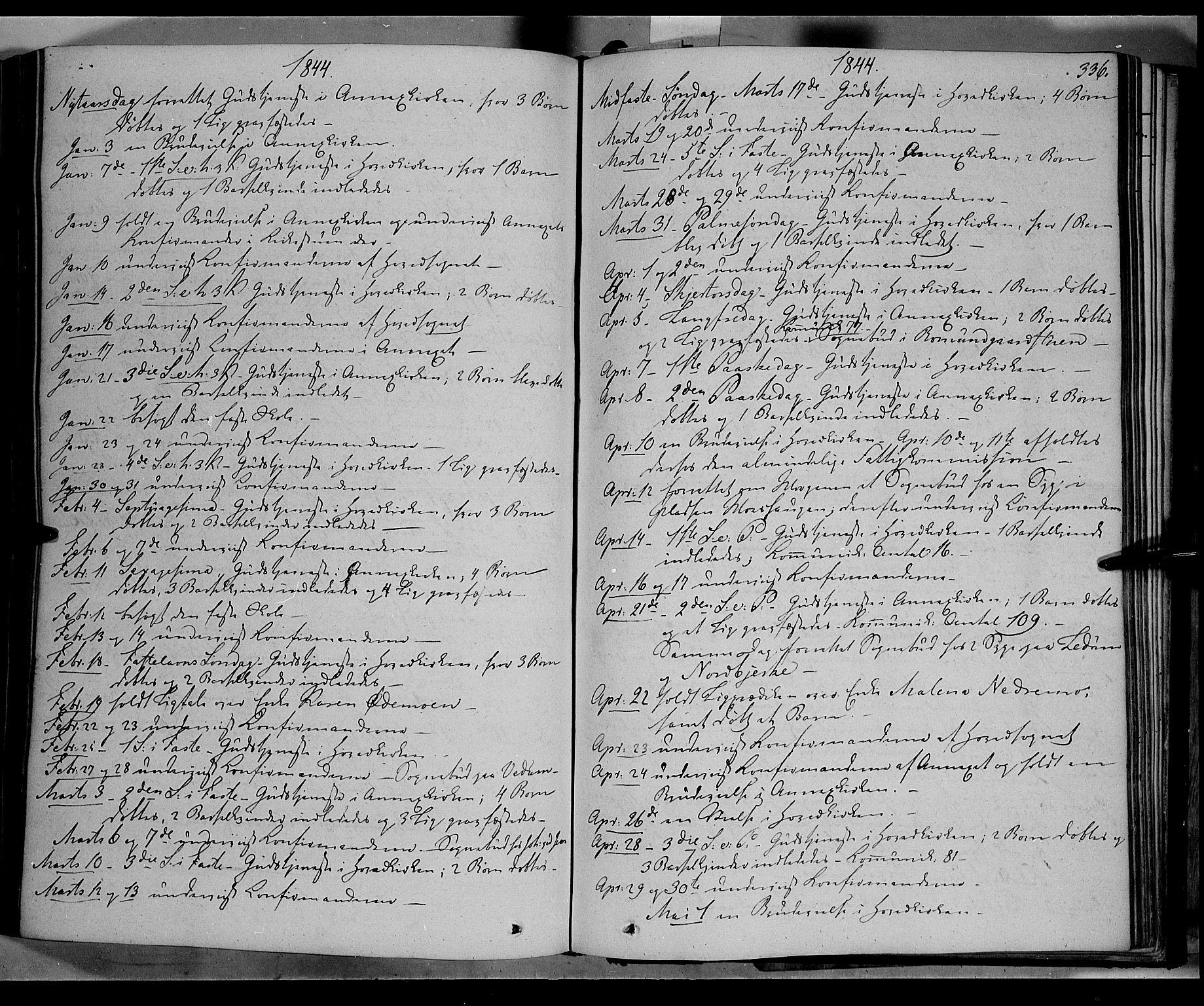 SAH, Øyer prestekontor, Ministerialbok nr. 5, 1842-1857, s. 336