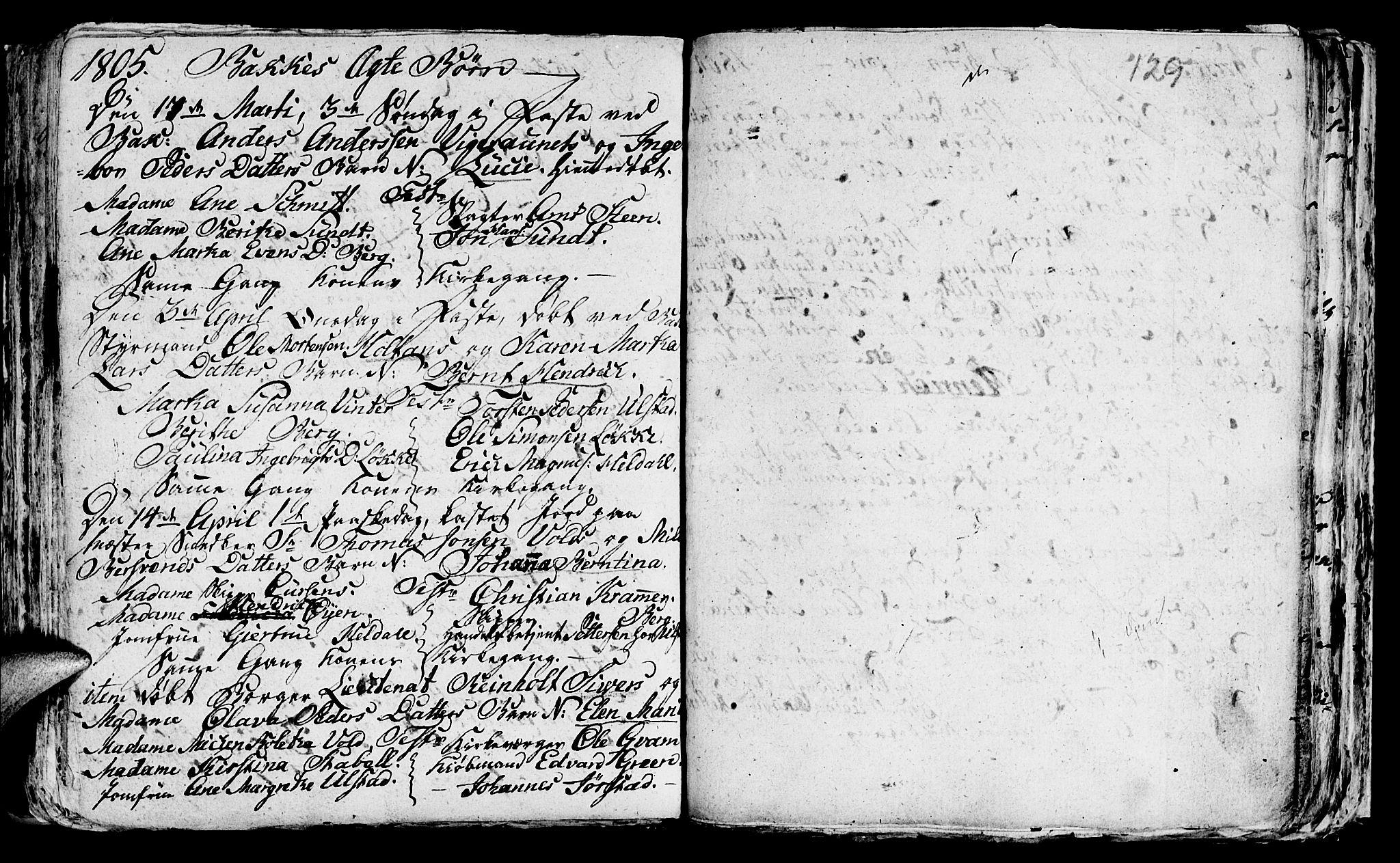 SAT, Ministerialprotokoller, klokkerbøker og fødselsregistre - Sør-Trøndelag, 604/L0218: Klokkerbok nr. 604C01, 1754-1819, s. 129