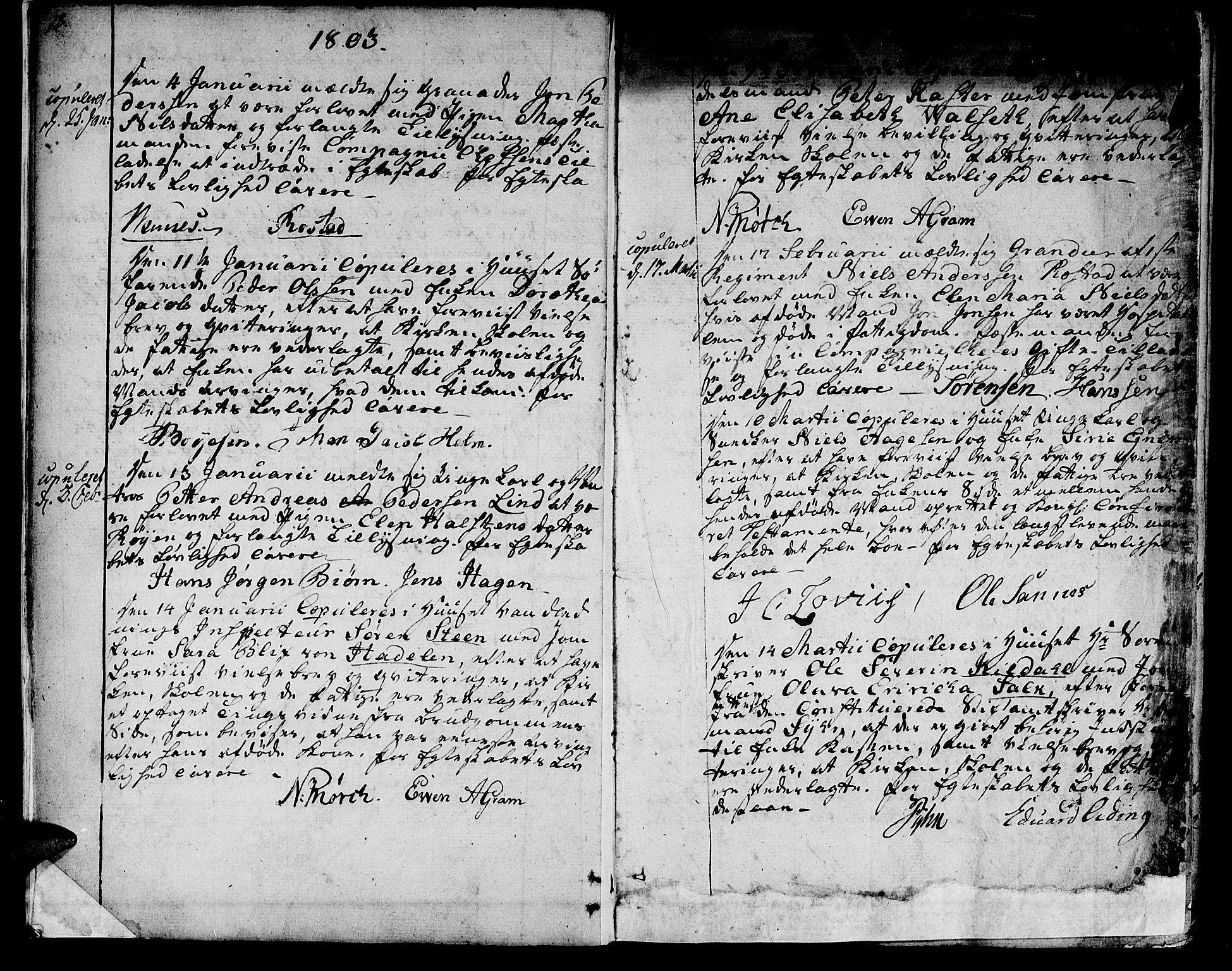 SAT, Ministerialprotokoller, klokkerbøker og fødselsregistre - Sør-Trøndelag, 601/L0042: Ministerialbok nr. 601A10, 1802-1830, s. 18-19