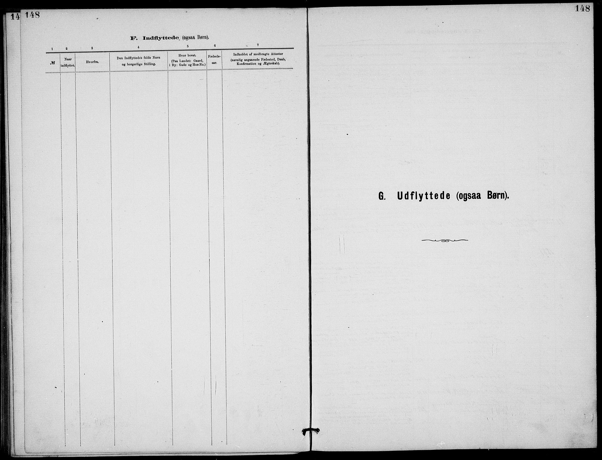 SAKO, Rjukan kirkebøker, G/Ga/L0001: Klokkerbok nr. 1, 1880-1914, s. 148