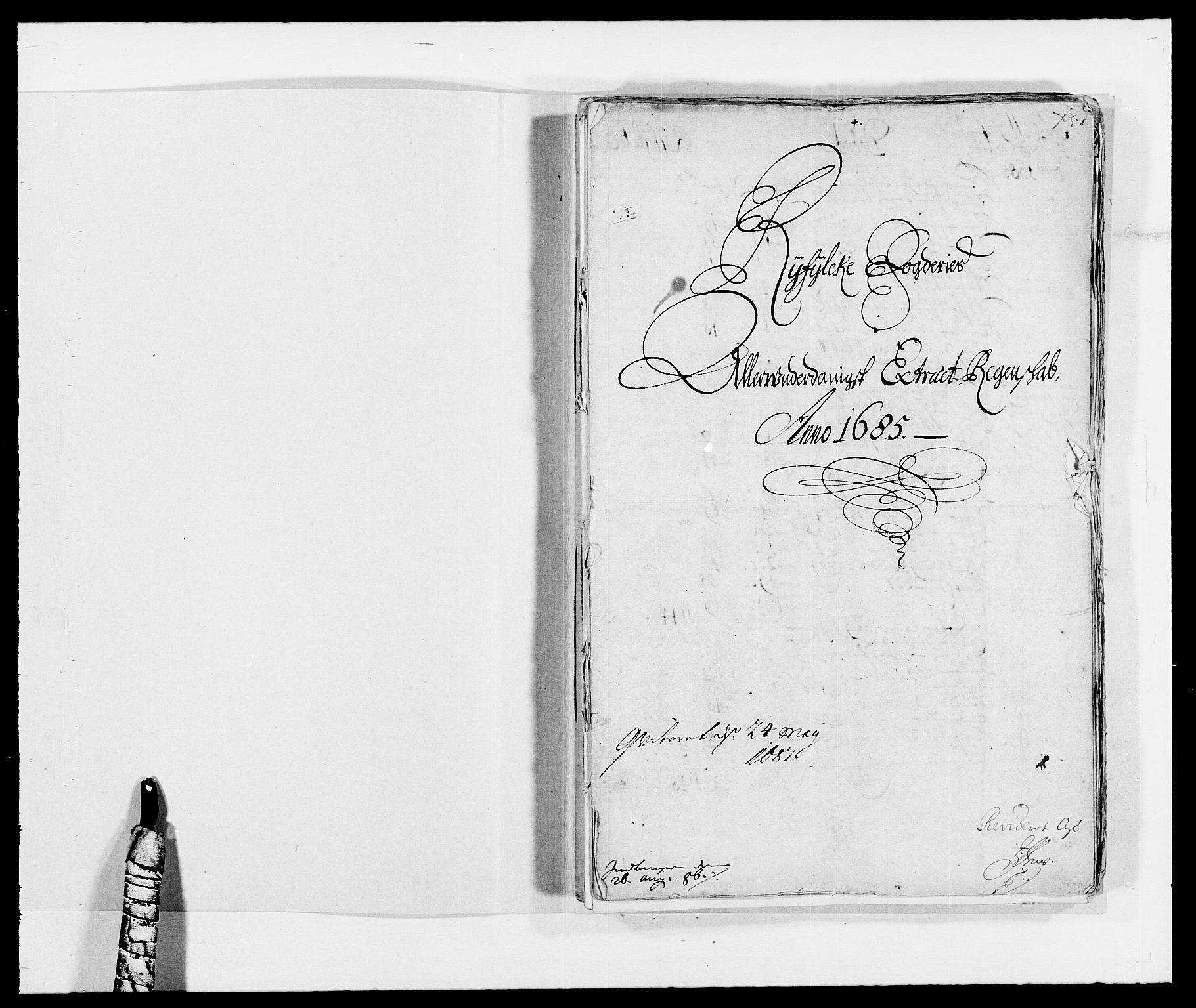 RA, Rentekammeret inntil 1814, Reviderte regnskaper, Fogderegnskap, R47/L2855: Fogderegnskap Ryfylke, 1685-1688, s. 2