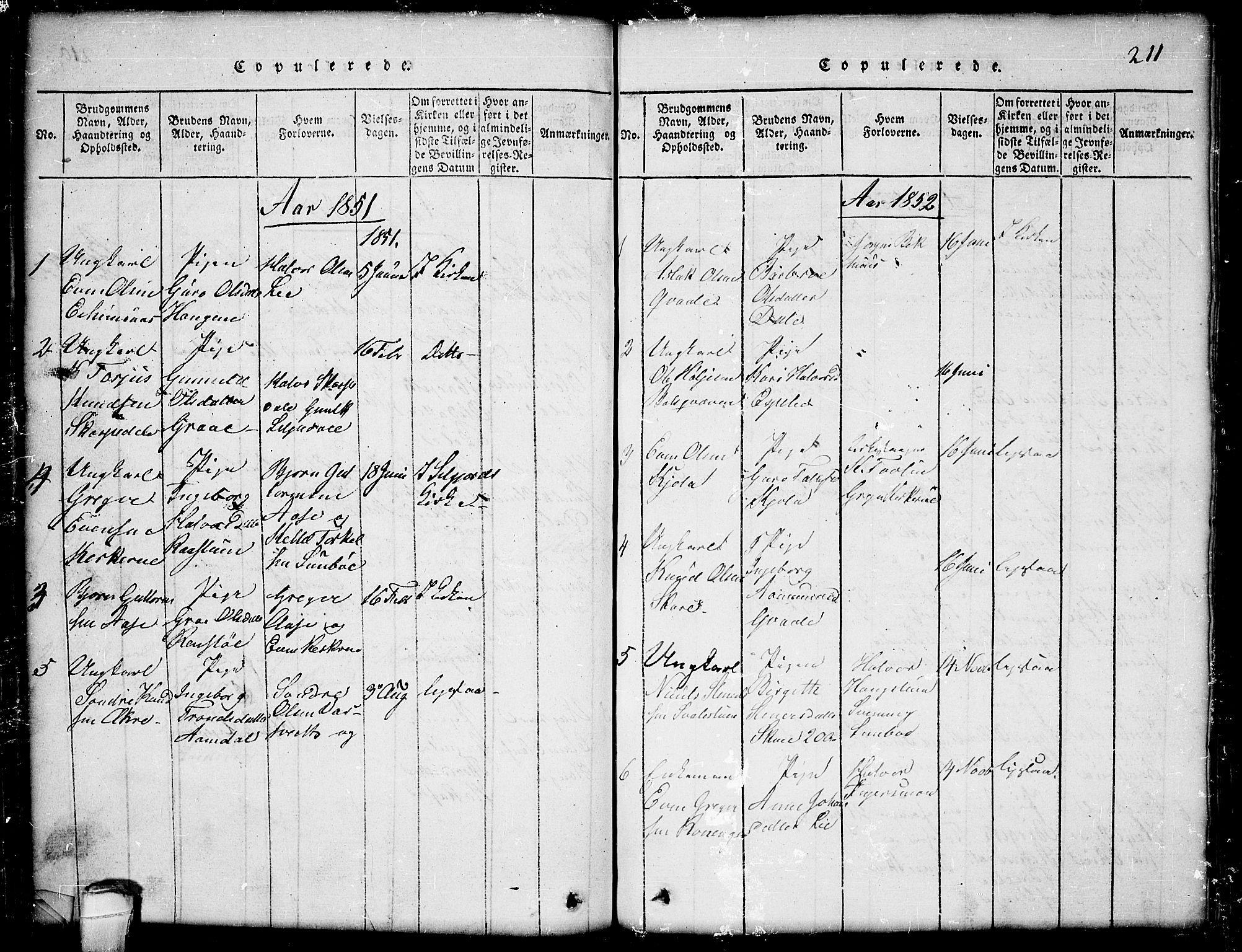 SAKO, Seljord kirkebøker, G/Gb/L0002: Klokkerbok nr. II 2, 1815-1854, s. 211