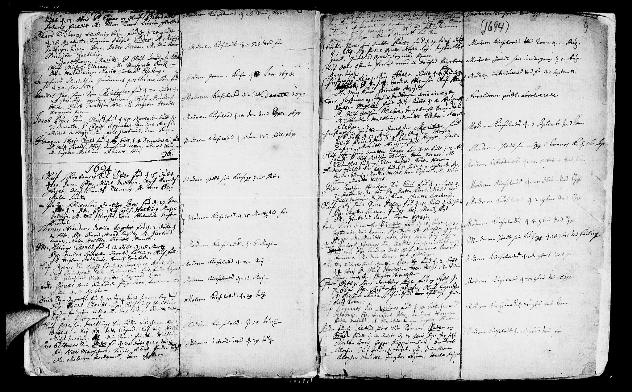 SAT, Ministerialprotokoller, klokkerbøker og fødselsregistre - Nord-Trøndelag, 746/L0439: Ministerialbok nr. 746A01, 1688-1759, s. 9