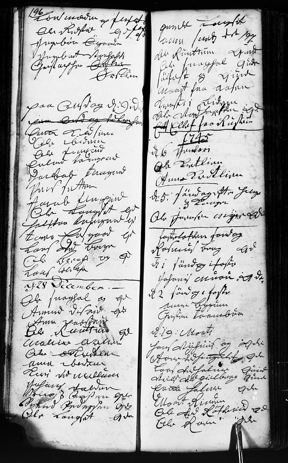SAH, Fåberg prestekontor, Klokkerbok nr. 2, 1741-1756, s. 196-197