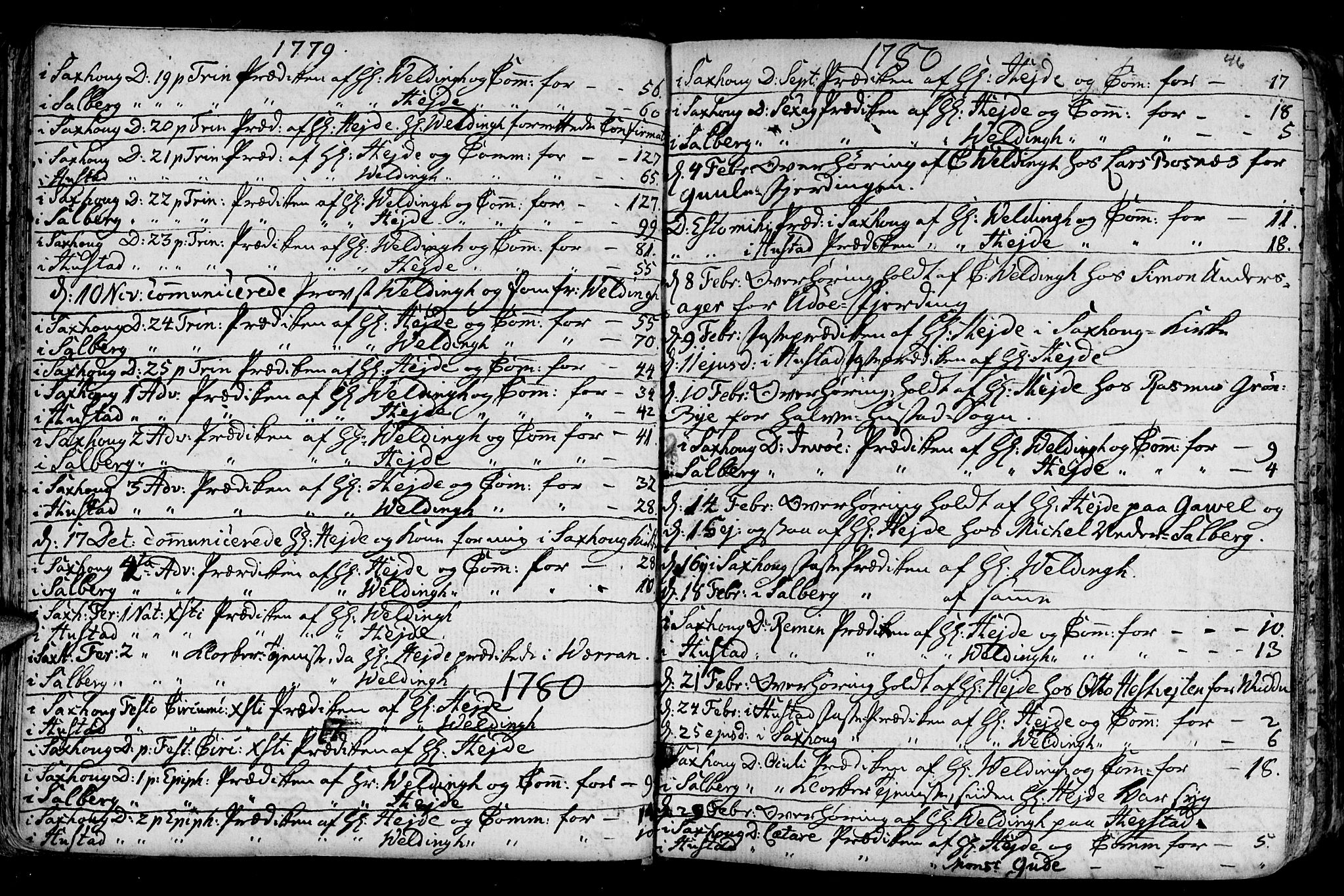 SAT, Ministerialprotokoller, klokkerbøker og fødselsregistre - Nord-Trøndelag, 730/L0273: Ministerialbok nr. 730A02, 1762-1802, s. 46
