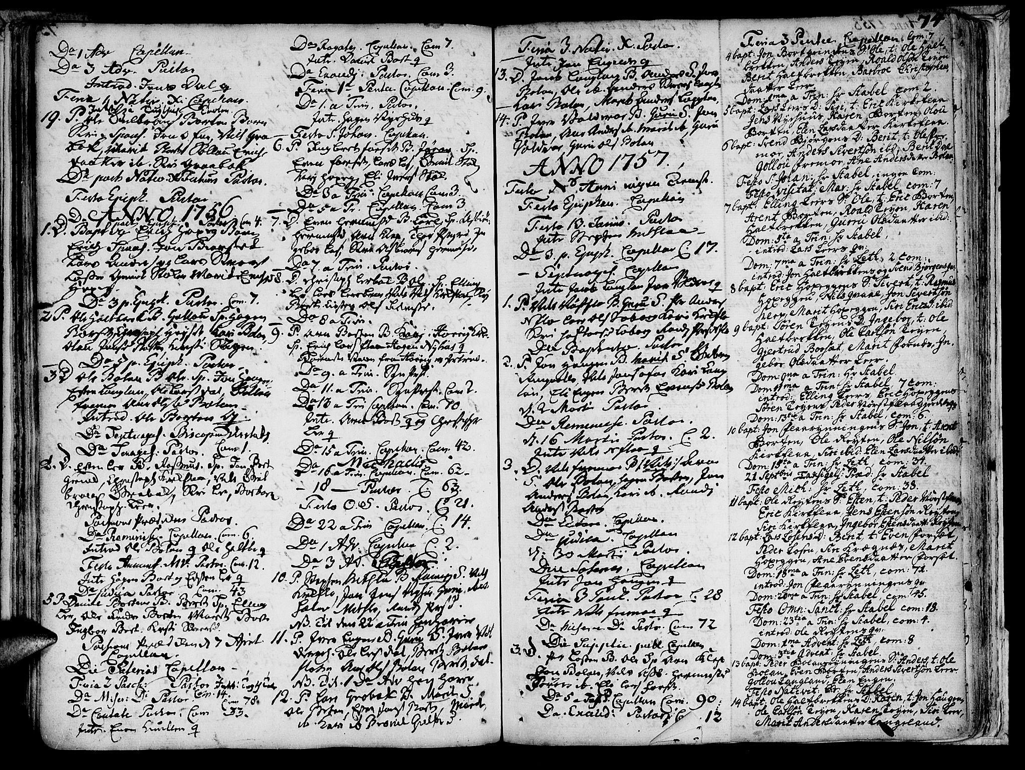 SAT, Ministerialprotokoller, klokkerbøker og fødselsregistre - Sør-Trøndelag, 691/L1058: Ministerialbok nr. 691A01 /2, 1740-1767, s. 74