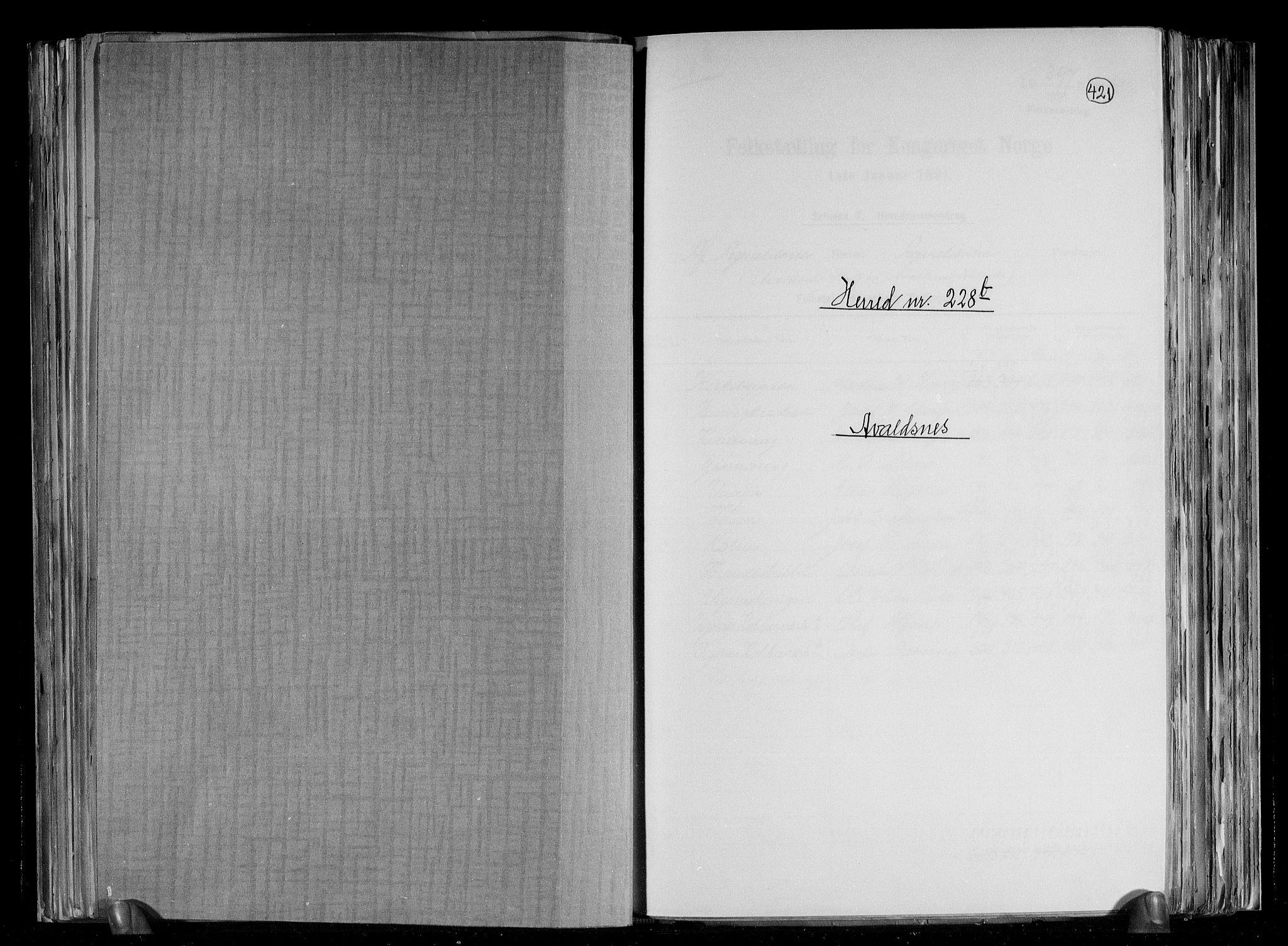 RA, Folketelling 1891 for 1147 Avaldsnes herred, 1891, s. 14