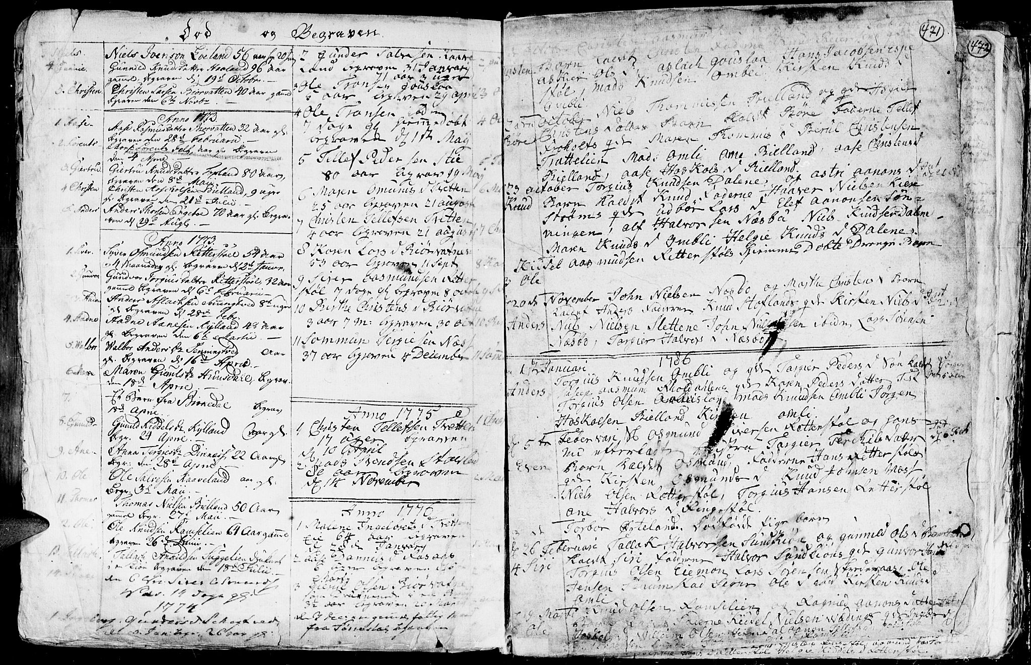 SAK, Hommedal sokneprestkontor, F/Fa/Fab/L0002: Ministerialbok nr. A 2 /3, 1740-1821, s. 471