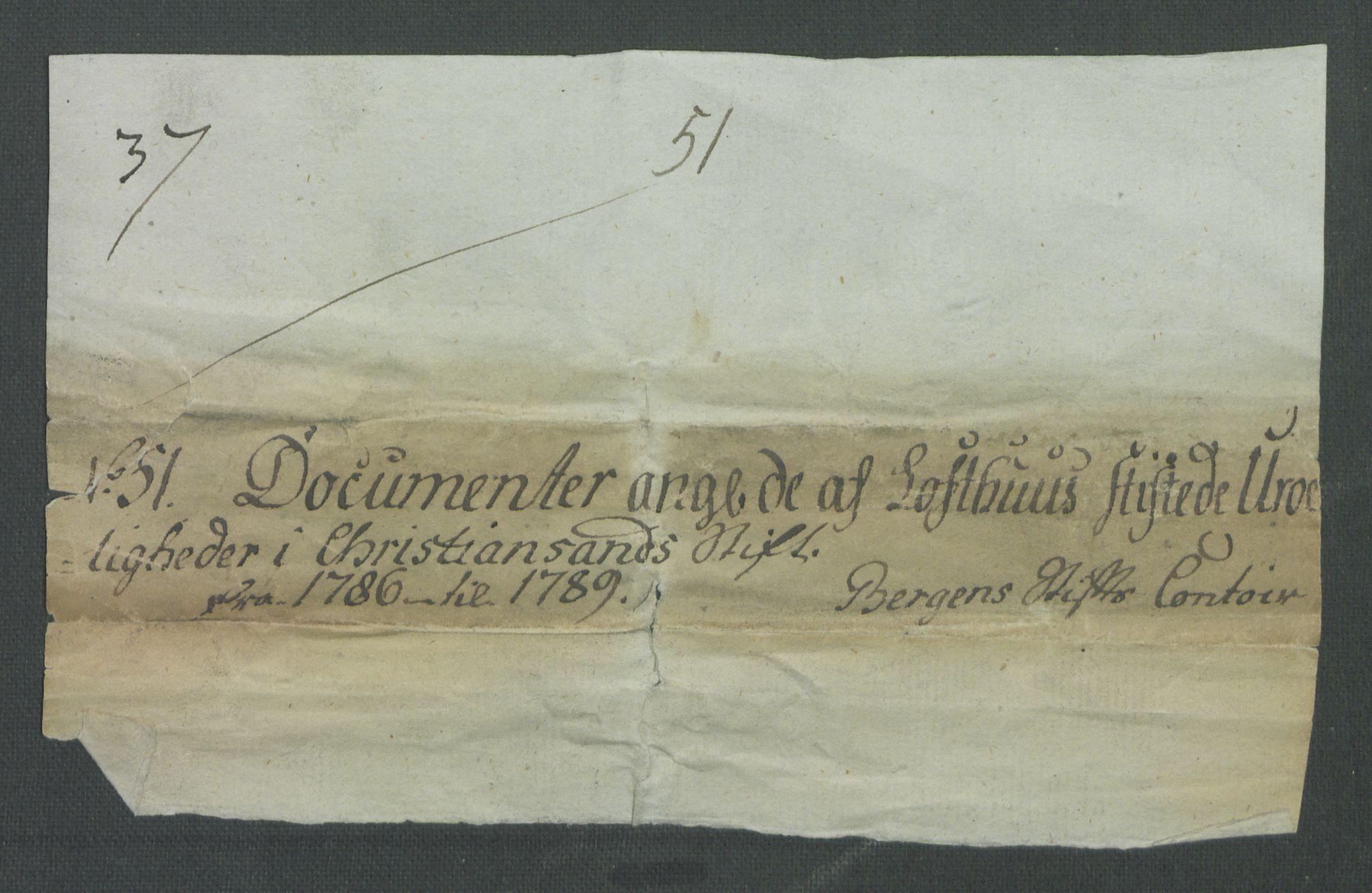 RA, Rentekammeret inntil 1814, Realistisk ordnet avdeling, Od/L0001: Oppløp, 1786-1769, s. 2