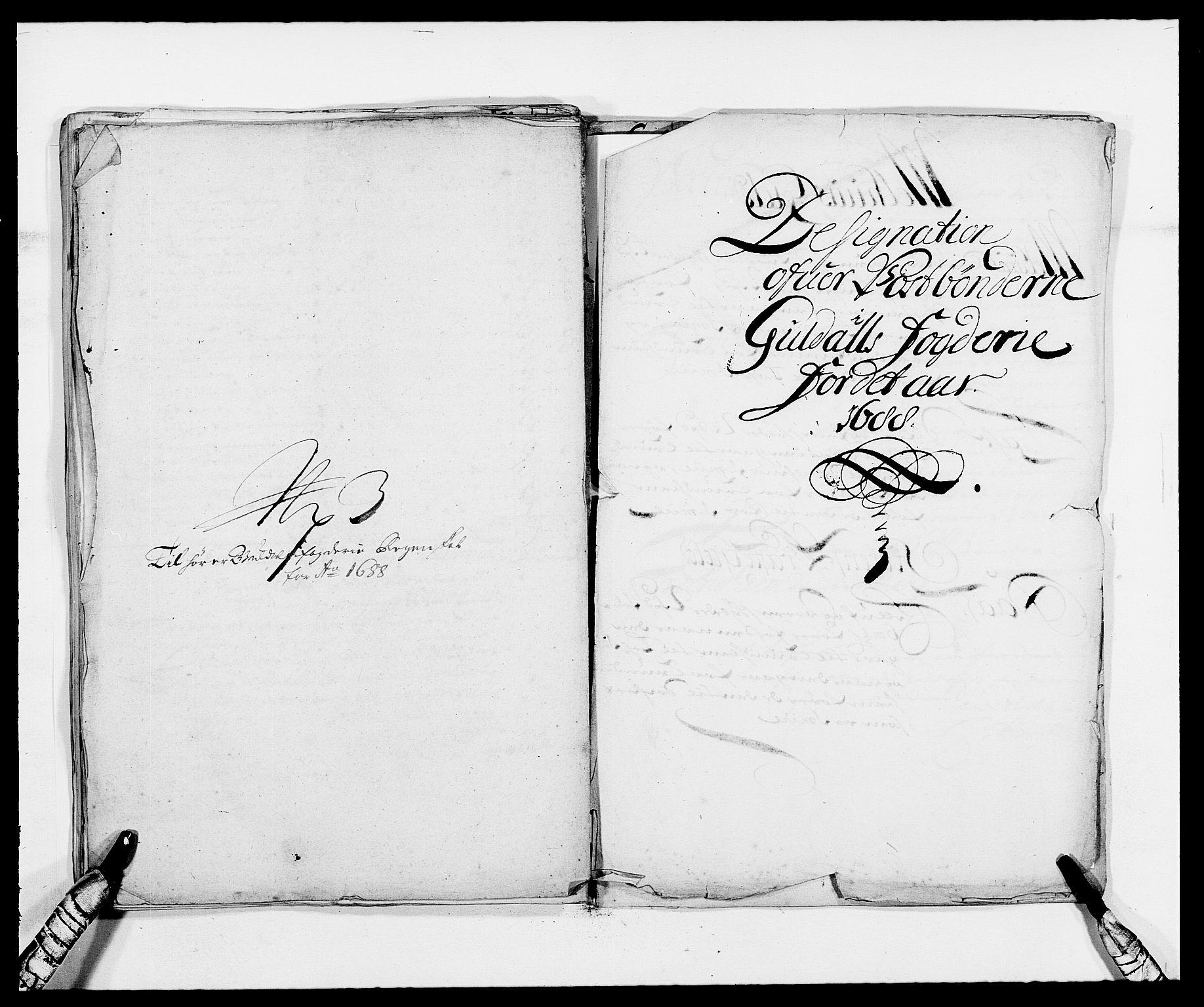 RA, Rentekammeret inntil 1814, Reviderte regnskaper, Fogderegnskap, R59/L3939: Fogderegnskap Gauldal, 1687-1688, s. 344