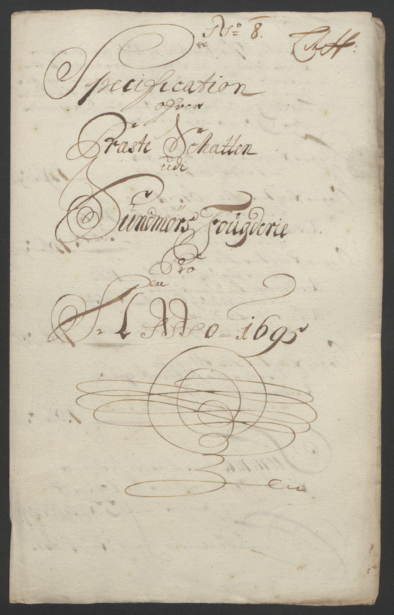 RA, Rentekammeret inntil 1814, Reviderte regnskaper, Fogderegnskap, R54/L3555: Fogderegnskap Sunnmøre, 1694-1695, s. 305