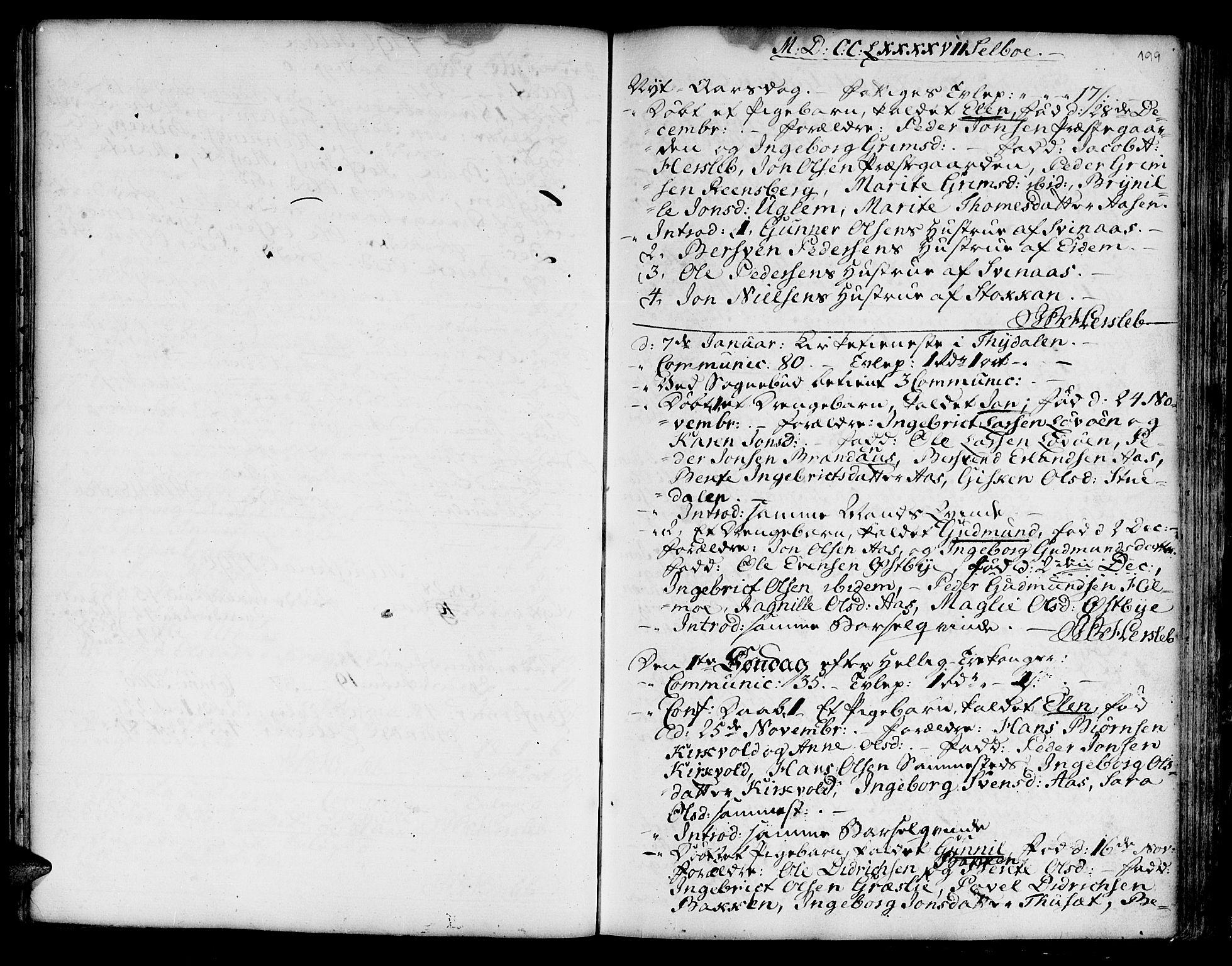 SAT, Ministerialprotokoller, klokkerbøker og fødselsregistre - Sør-Trøndelag, 695/L1138: Ministerialbok nr. 695A02 /1, 1757-1801, s. 199