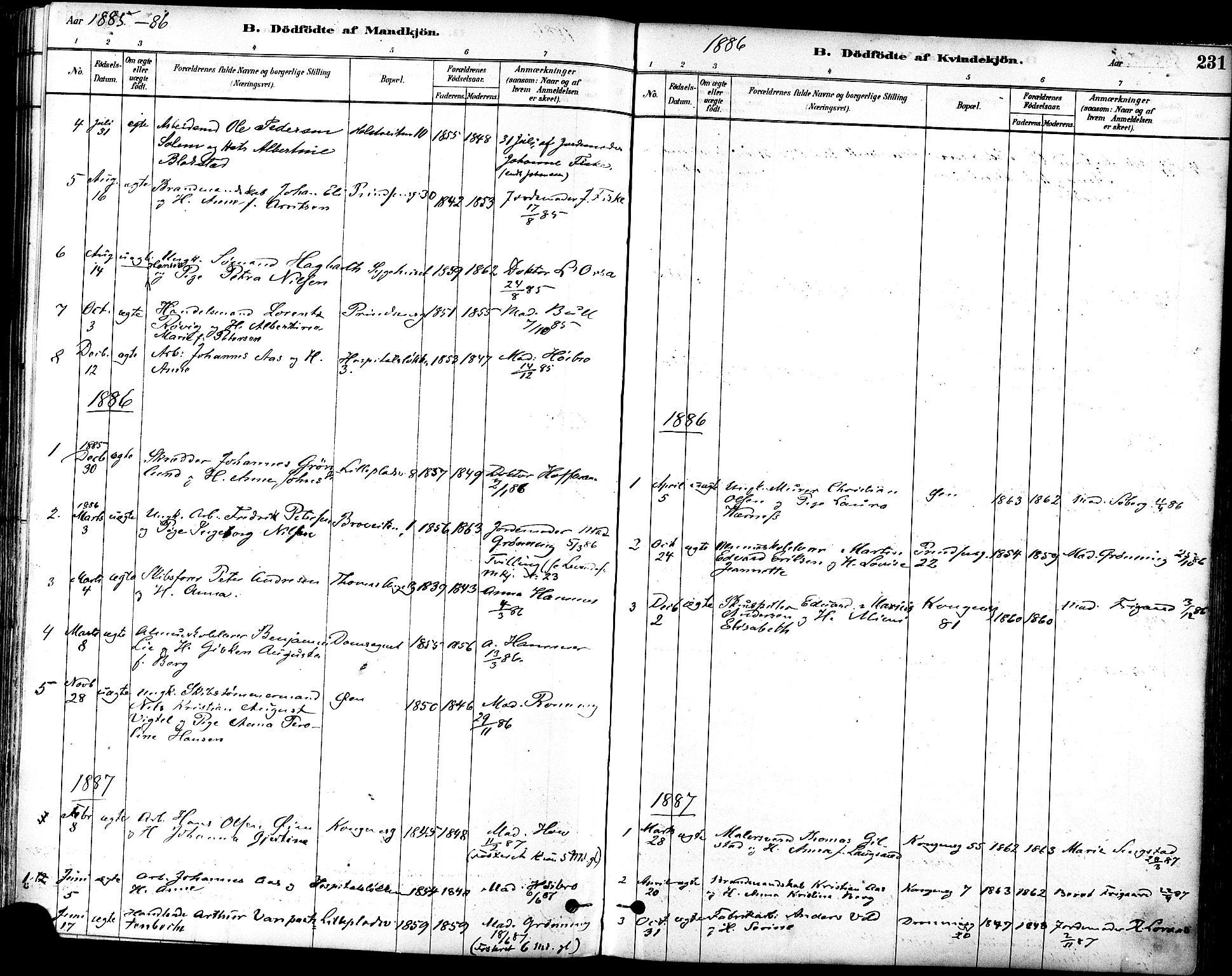 SAT, Ministerialprotokoller, klokkerbøker og fødselsregistre - Sør-Trøndelag, 601/L0057: Ministerialbok nr. 601A25, 1877-1891, s. 231