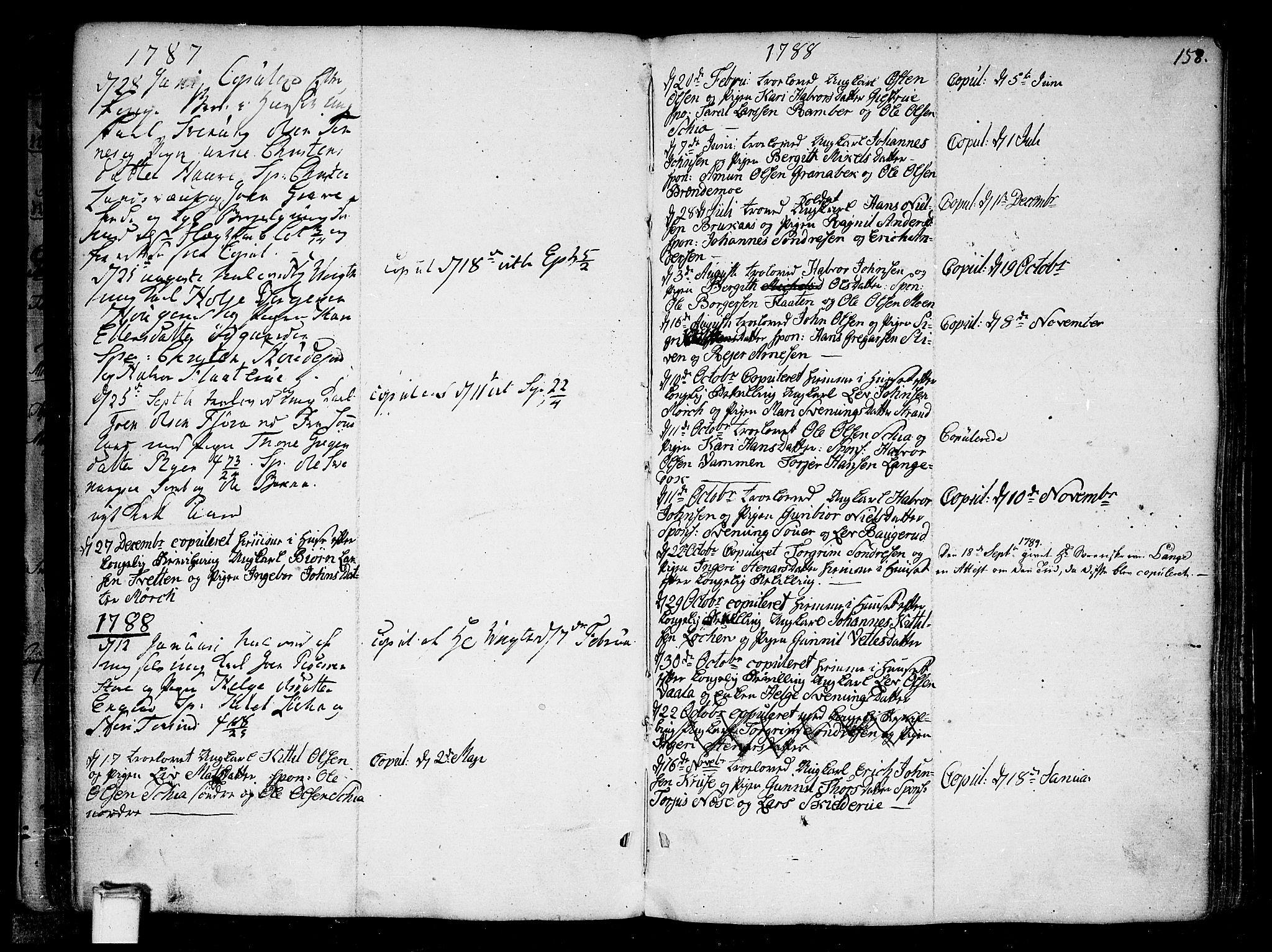 SAKO, Heddal kirkebøker, F/Fa/L0004: Ministerialbok nr. I 4, 1784-1814, s. 158