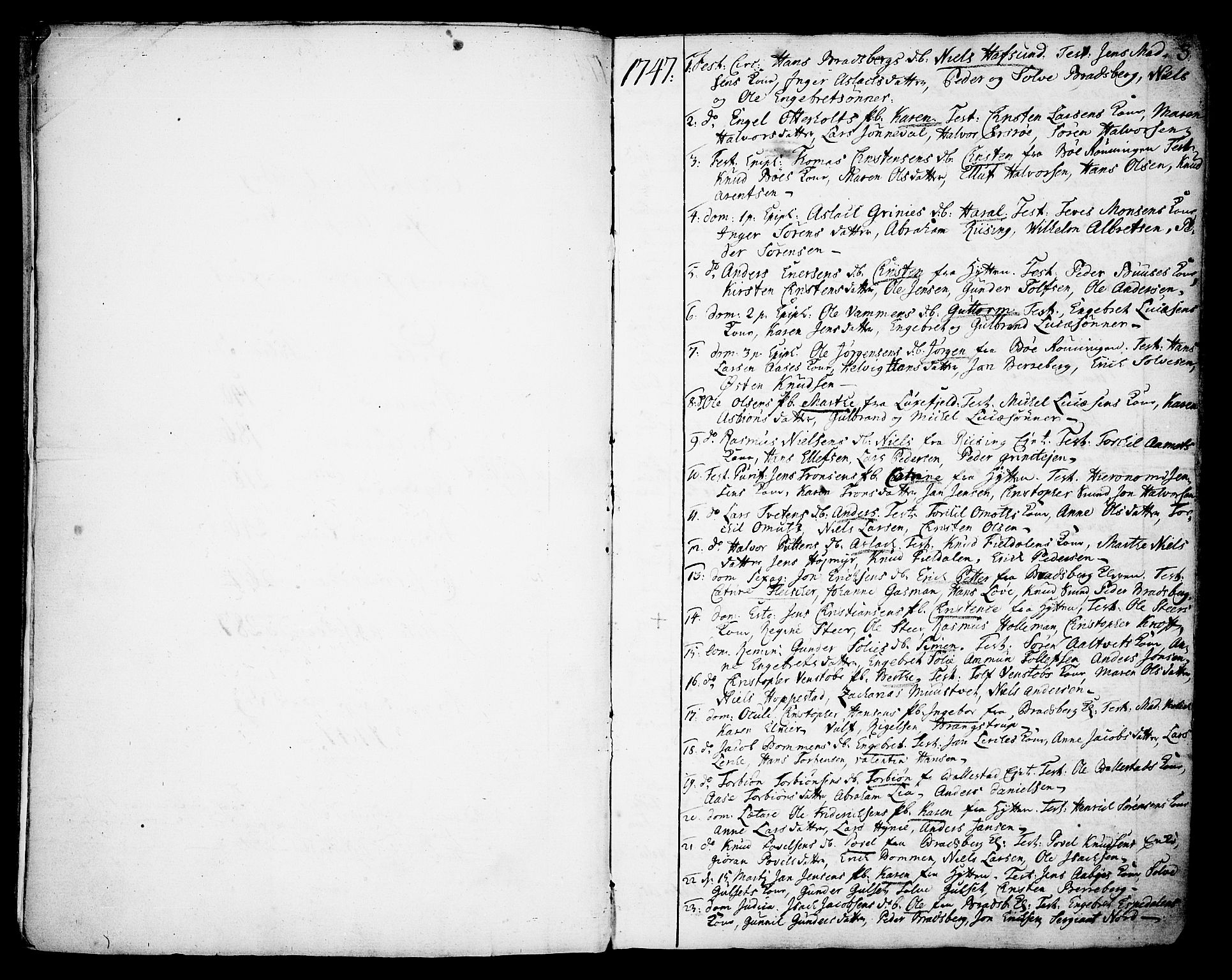 SAKO, Gjerpen kirkebøker, F/Fa/L0002: Ministerialbok nr. 2, 1747-1795, s. 3