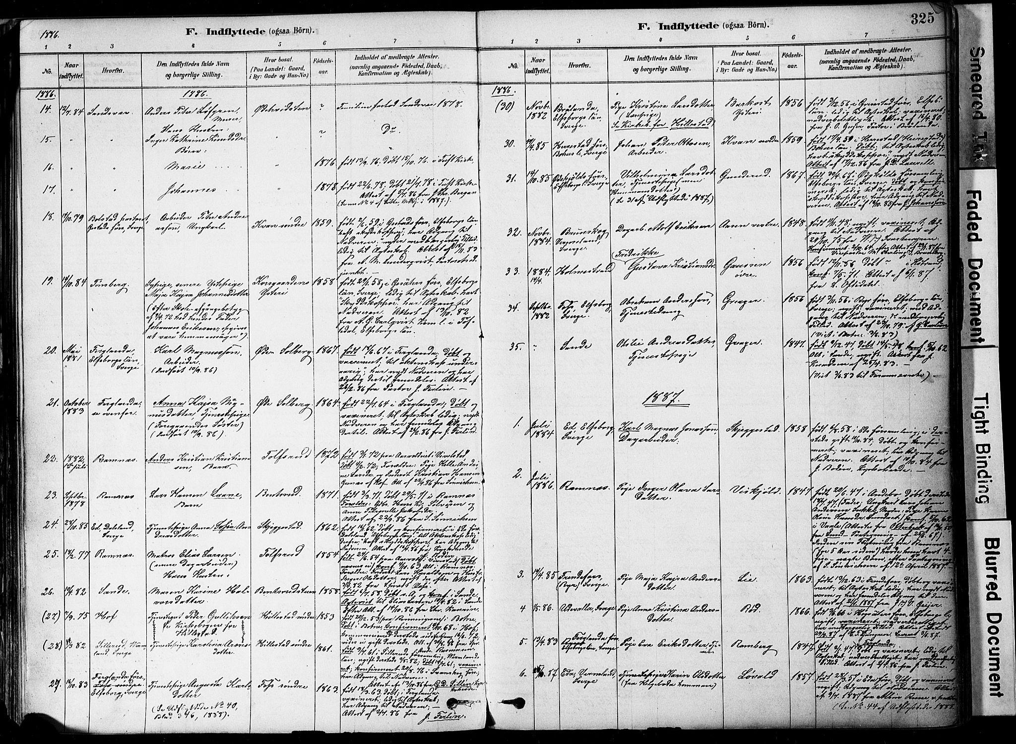 SAKO, Botne kirkebøker, F/Fa/L0007: Ministerialbok nr. I 7, 1878-1910, s. 325