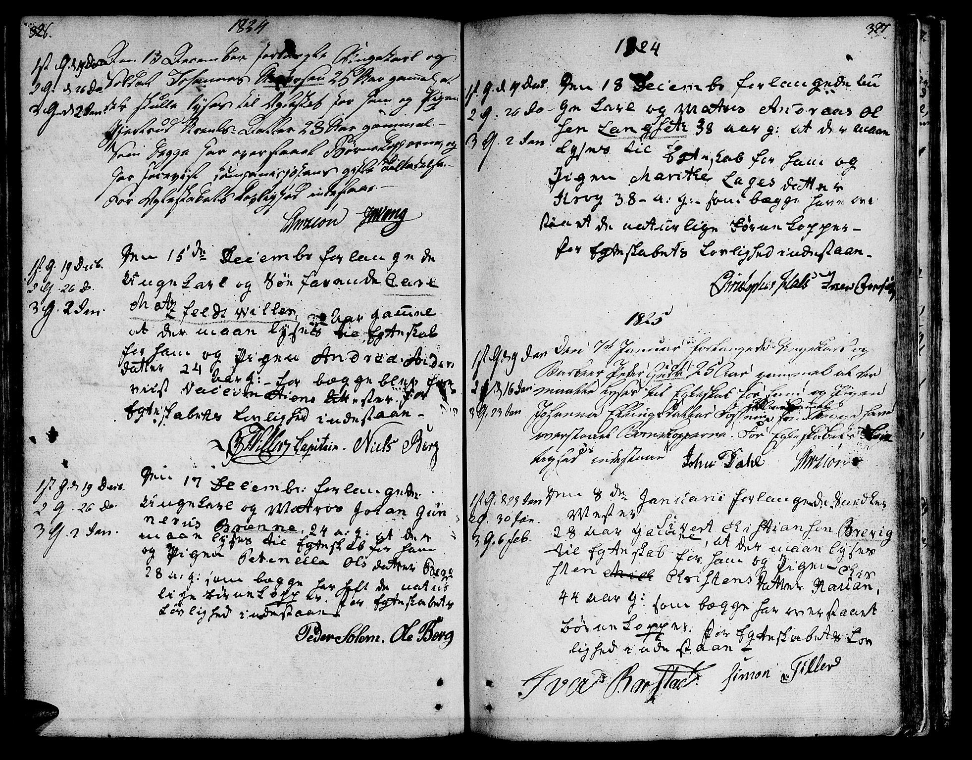 SAT, Ministerialprotokoller, klokkerbøker og fødselsregistre - Sør-Trøndelag, 601/L0042: Ministerialbok nr. 601A10, 1802-1830, s. 326-327