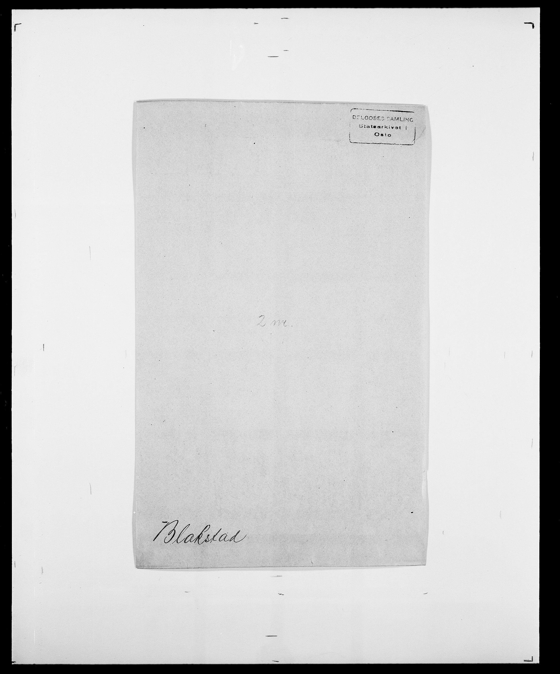 SAO, Delgobe, Charles Antoine - samling, D/Da/L0004: Bergendahl - Blære, s. 526