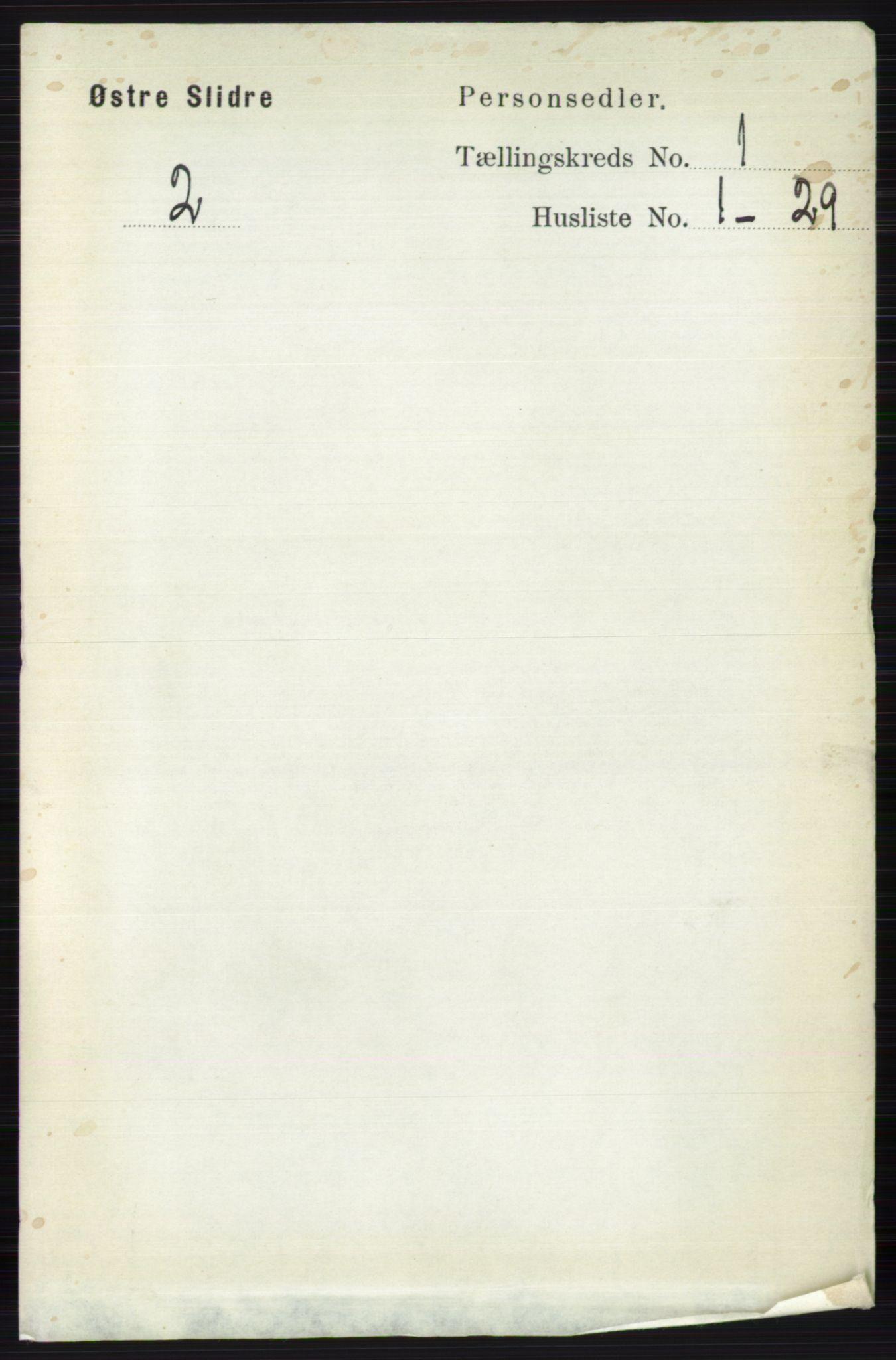 RA, Folketelling 1891 for 0544 Øystre Slidre herred, 1891, s. 58