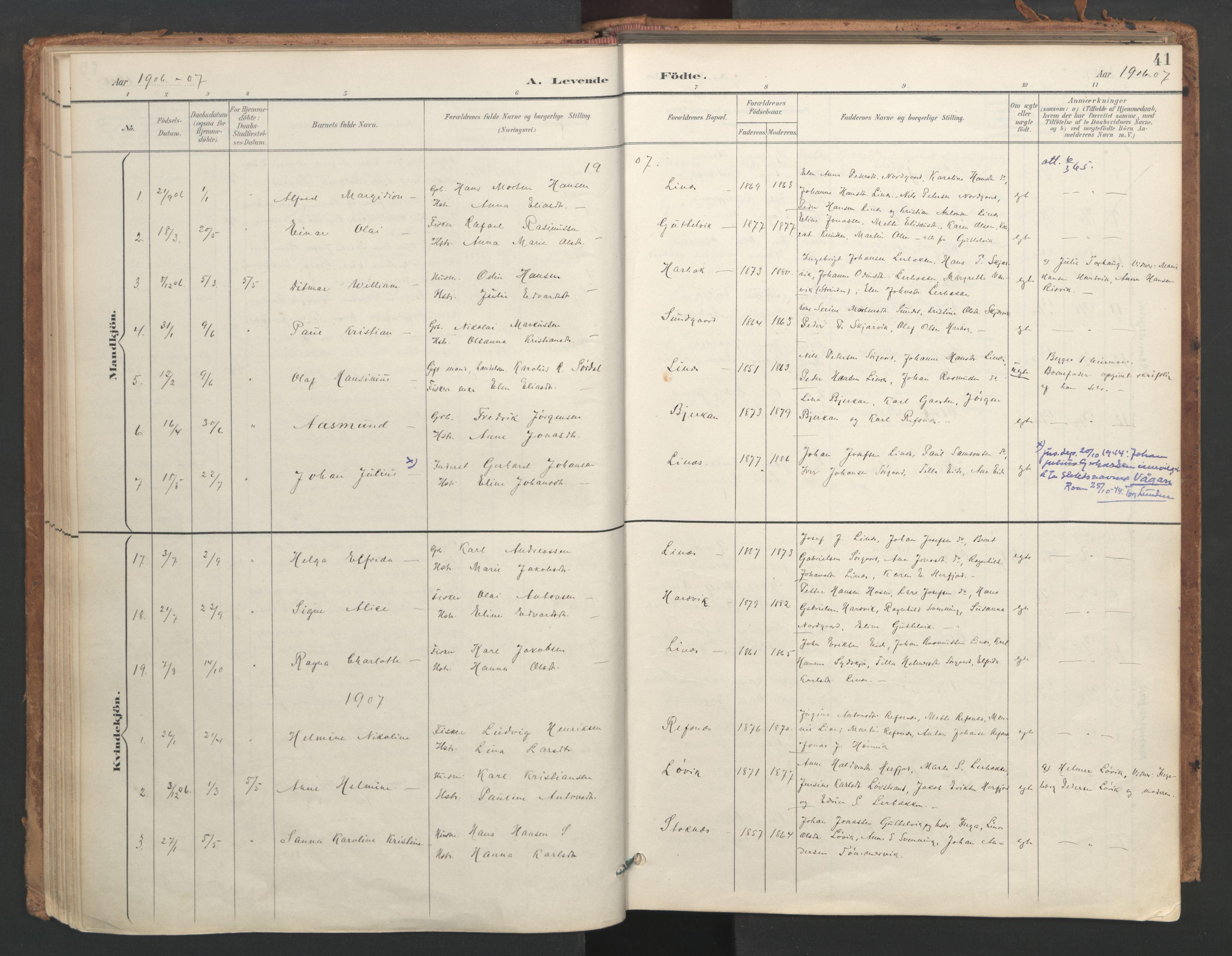 SAT, Ministerialprotokoller, klokkerbøker og fødselsregistre - Sør-Trøndelag, 656/L0693: Ministerialbok nr. 656A02, 1894-1913, s. 41