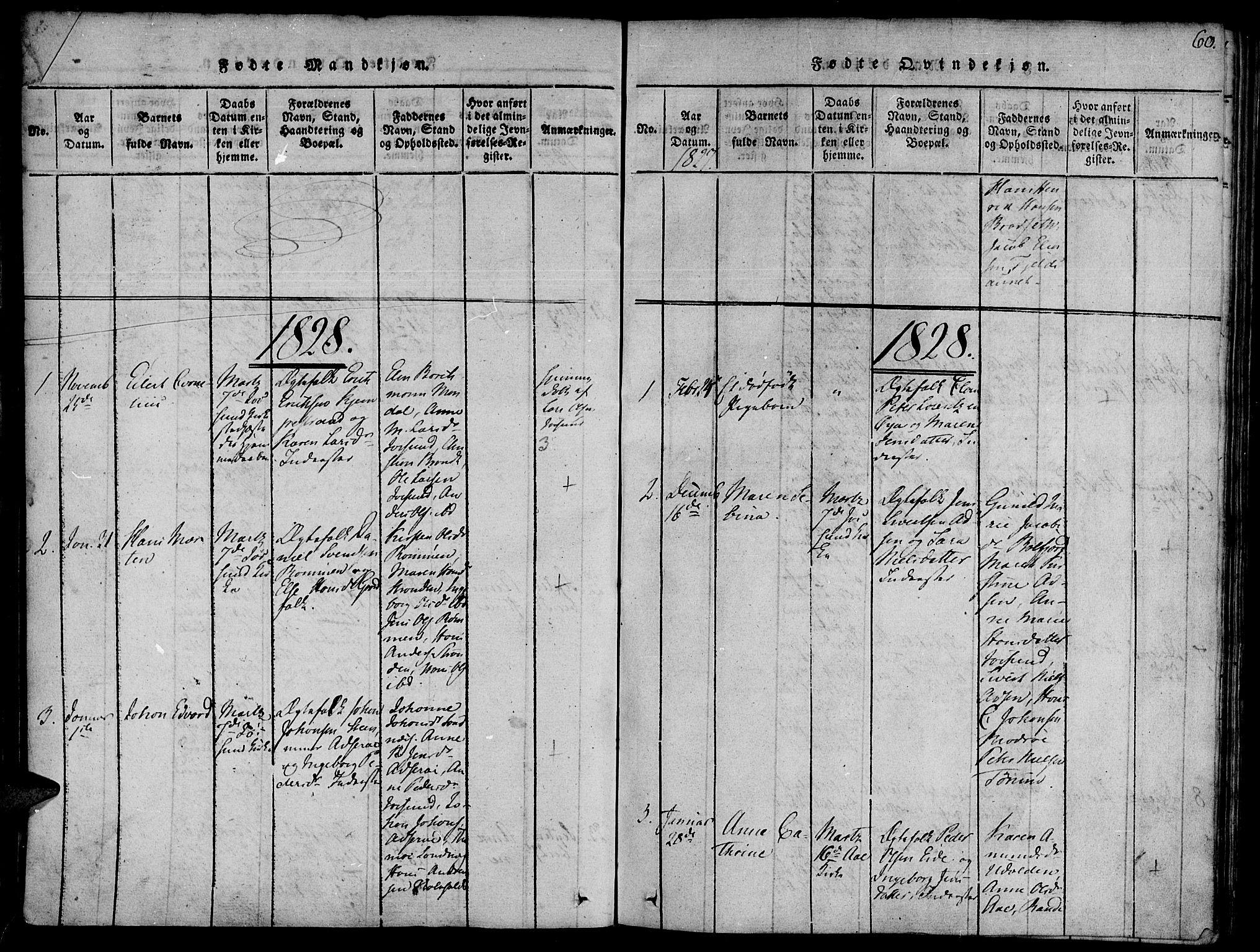 SAT, Ministerialprotokoller, klokkerbøker og fødselsregistre - Sør-Trøndelag, 655/L0675: Ministerialbok nr. 655A04, 1818-1830, s. 60