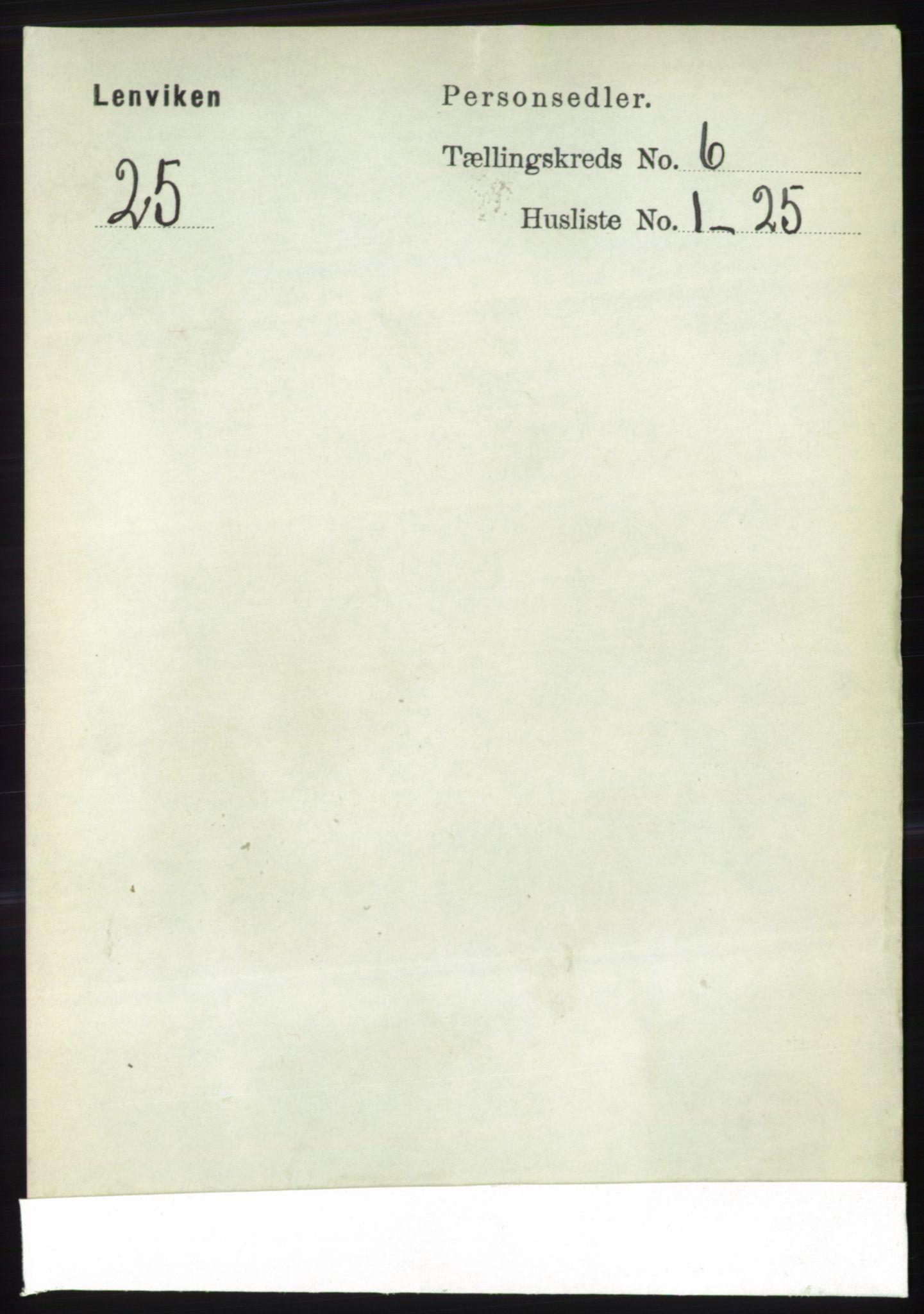 RA, Folketelling 1891 for 1931 Lenvik herred, 1891, s. 3237