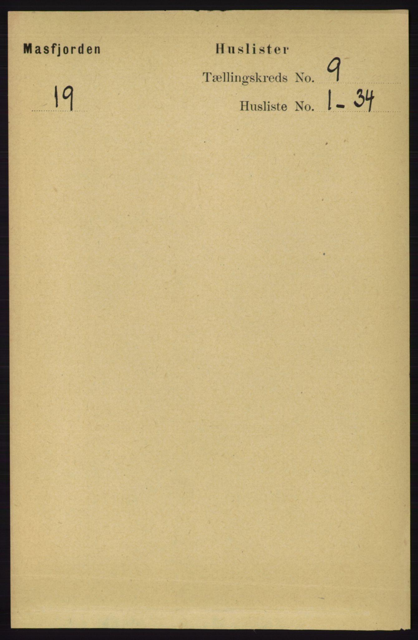 RA, Folketelling 1891 for 1266 Masfjorden herred, 1891, s. 1690