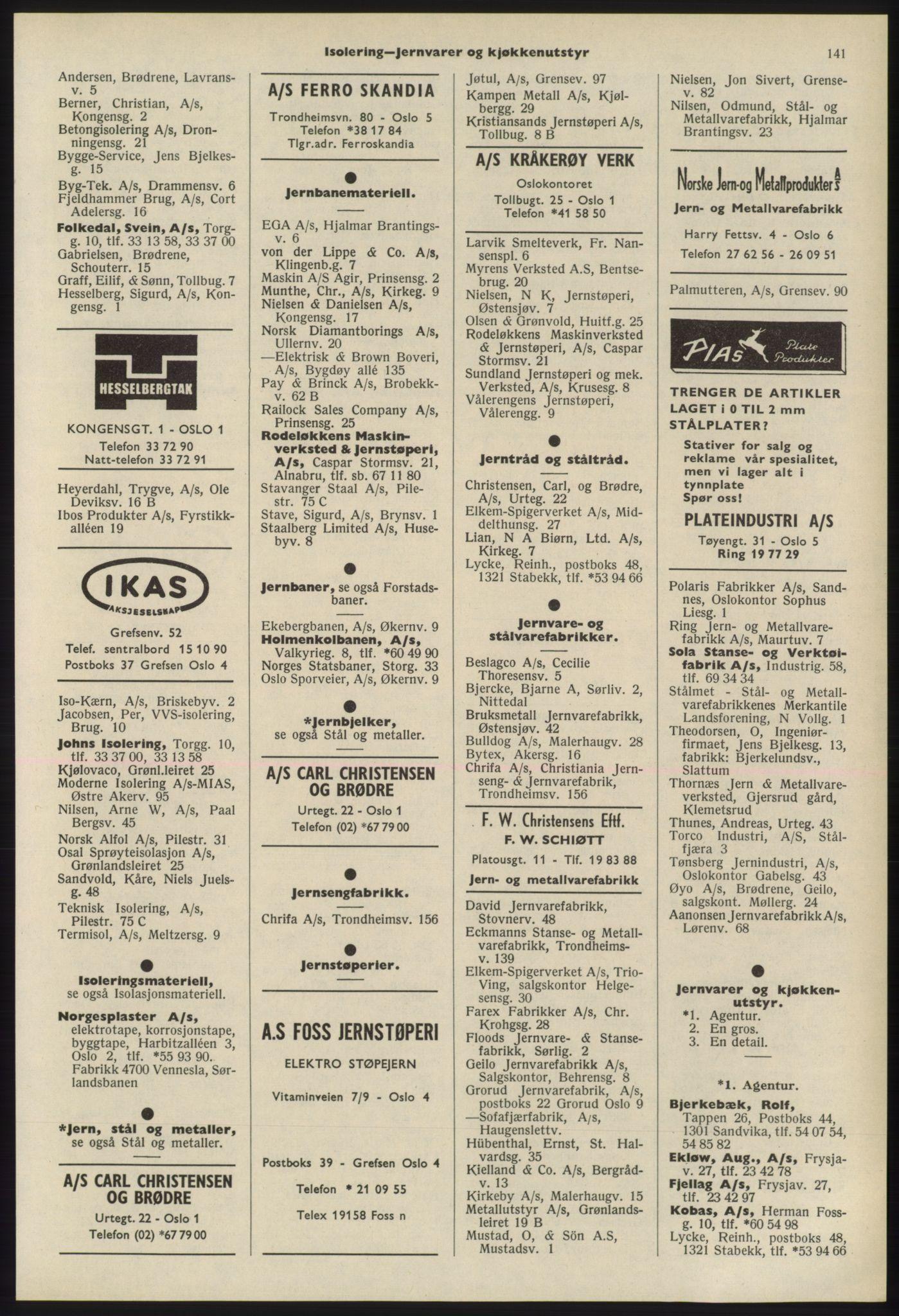 PUBL, Kristiania/Oslo adressebok, 1975-1976, s. 141
