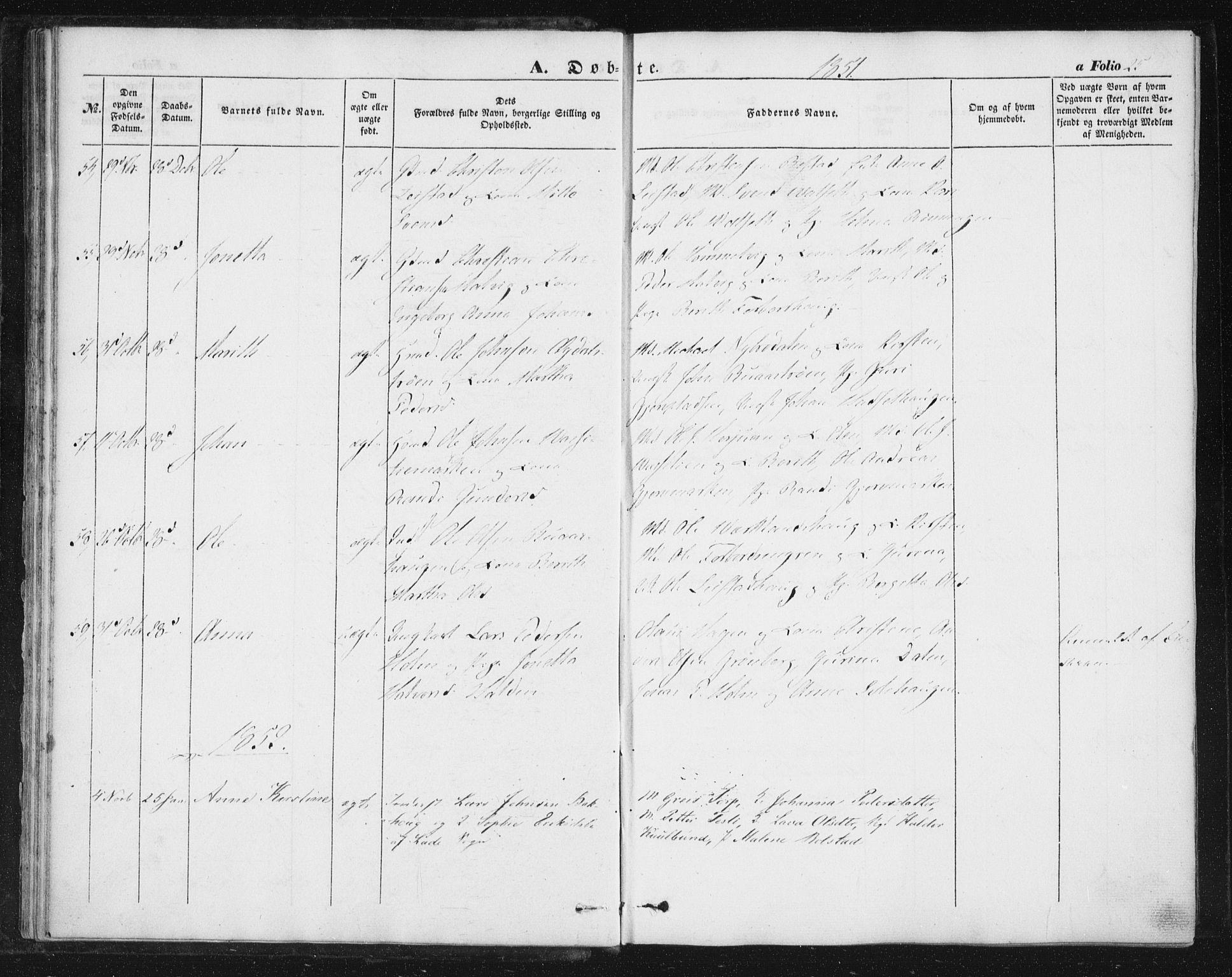 SAT, Ministerialprotokoller, klokkerbøker og fødselsregistre - Sør-Trøndelag, 616/L0407: Ministerialbok nr. 616A04, 1848-1856, s. 25