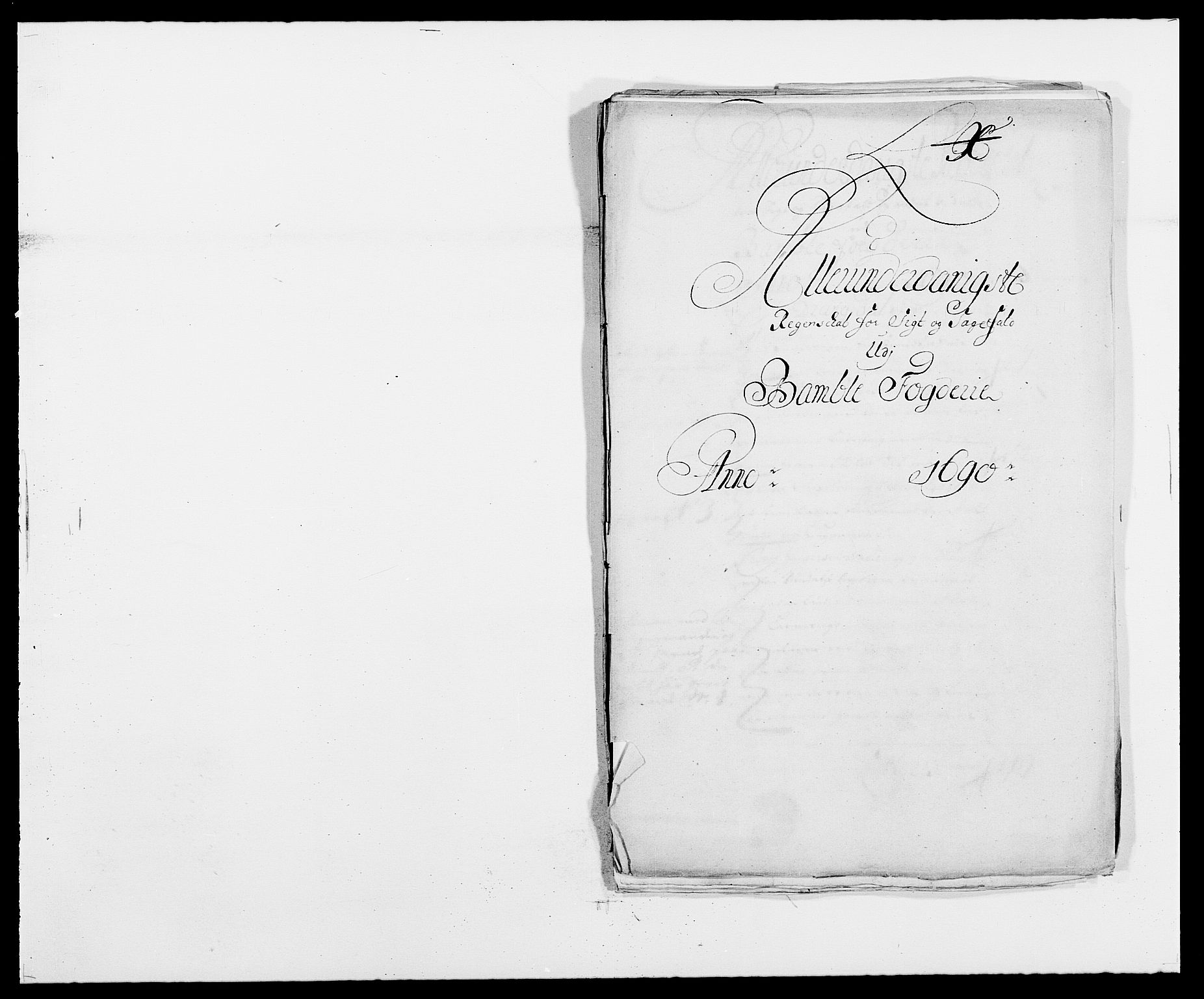 RA, Rentekammeret inntil 1814, Reviderte regnskaper, Fogderegnskap, R34/L2051: Fogderegnskap Bamble, 1688-1691, s. 1