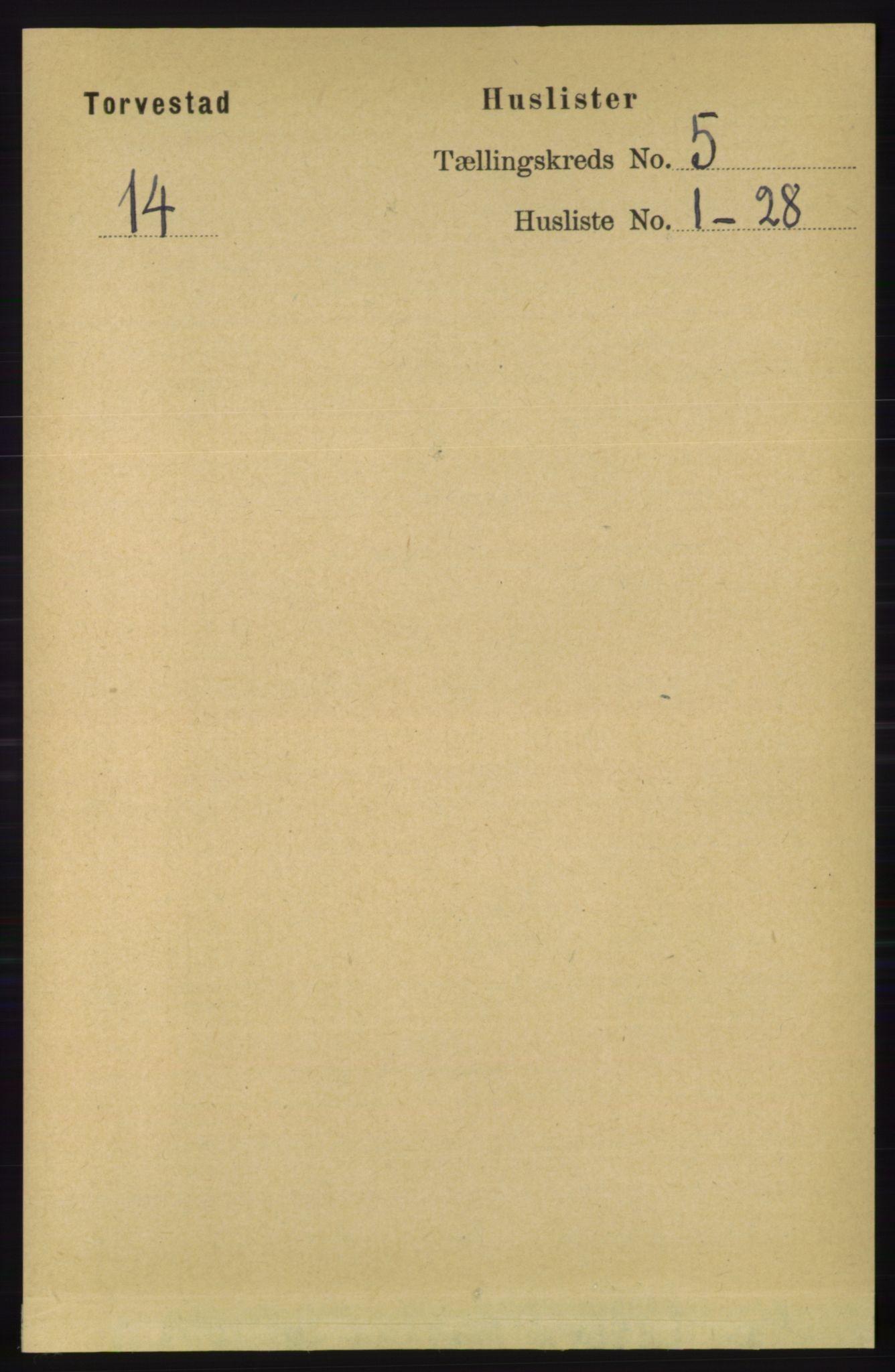 RA, Folketelling 1891 for 1152 Torvastad herred, 1891, s. 1725