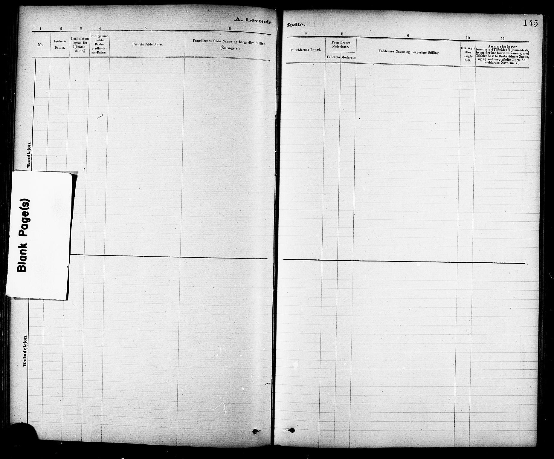SAT, Ministerialprotokoller, klokkerbøker og fødselsregistre - Sør-Trøndelag, 691/L1094: Klokkerbok nr. 691C05, 1879-1911, s. 145