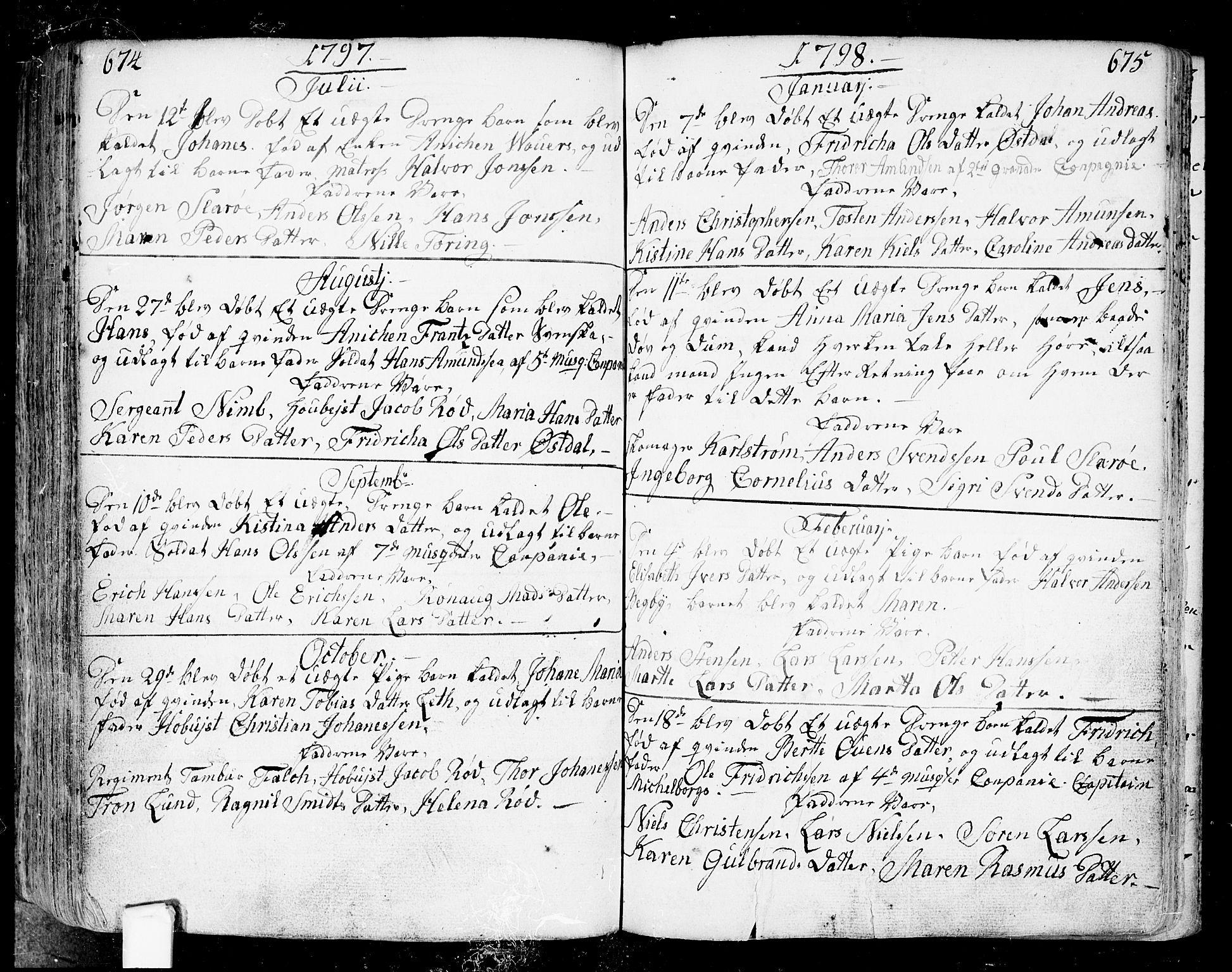 SAO, Fredrikstad prestekontor Kirkebøker, F/Fa/L0002: Ministerialbok nr. 2, 1750-1804, s. 674-675