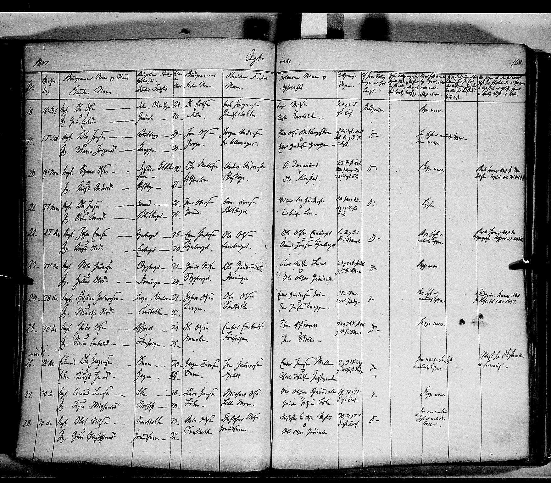 SAH, Elverum prestekontor, H/Ha/Haa/L0009: Ministerialbok nr. 9, 1843-1856, s. 168