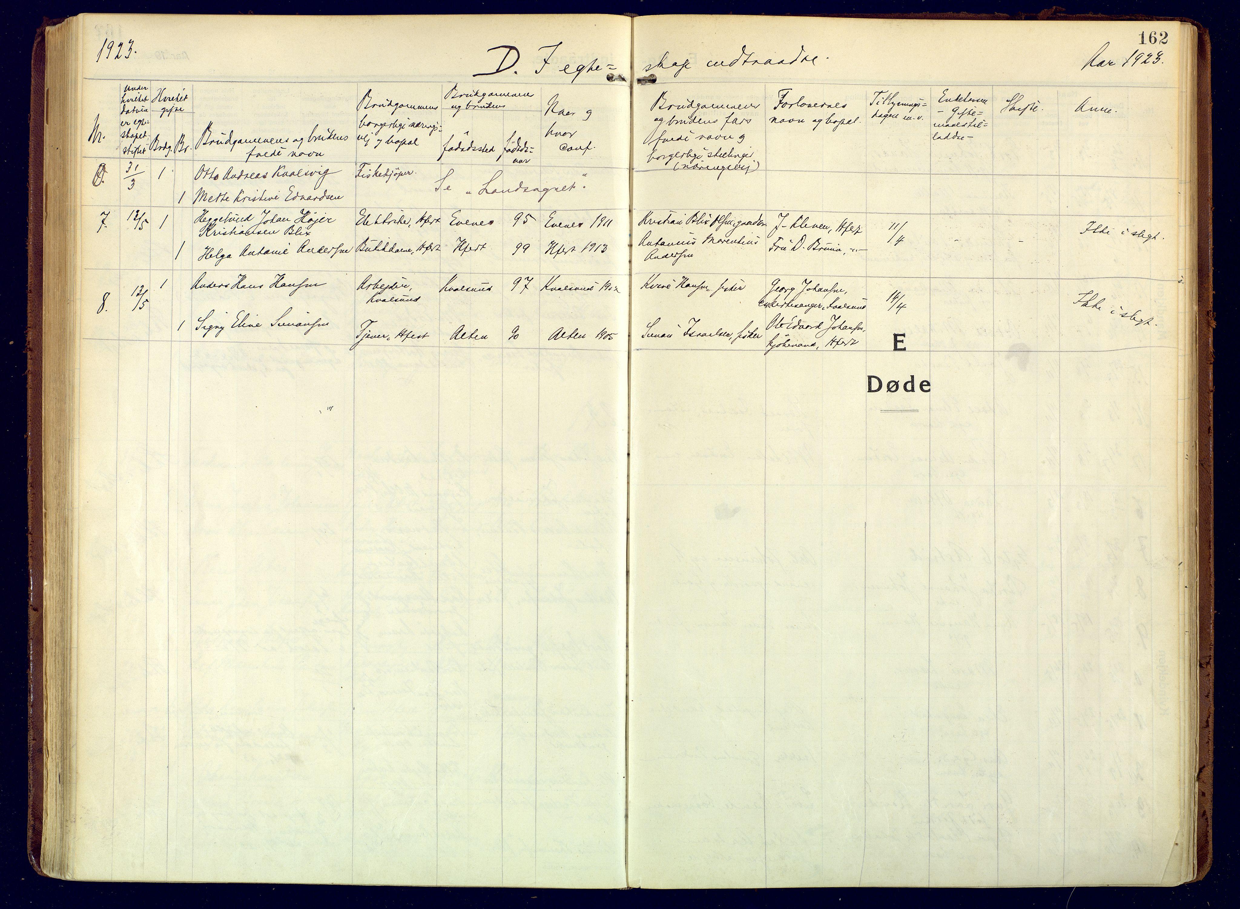 SATØ, Hammerfest sokneprestembete, Ministerialbok nr. 15, 1916-1923, s. 162